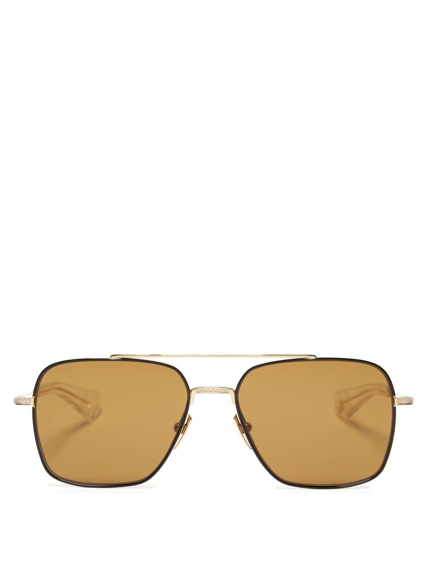 970865046fb8 Lyst - Dita Eyewear Flight Seven Titanium And Acetate Sunglasses in ...