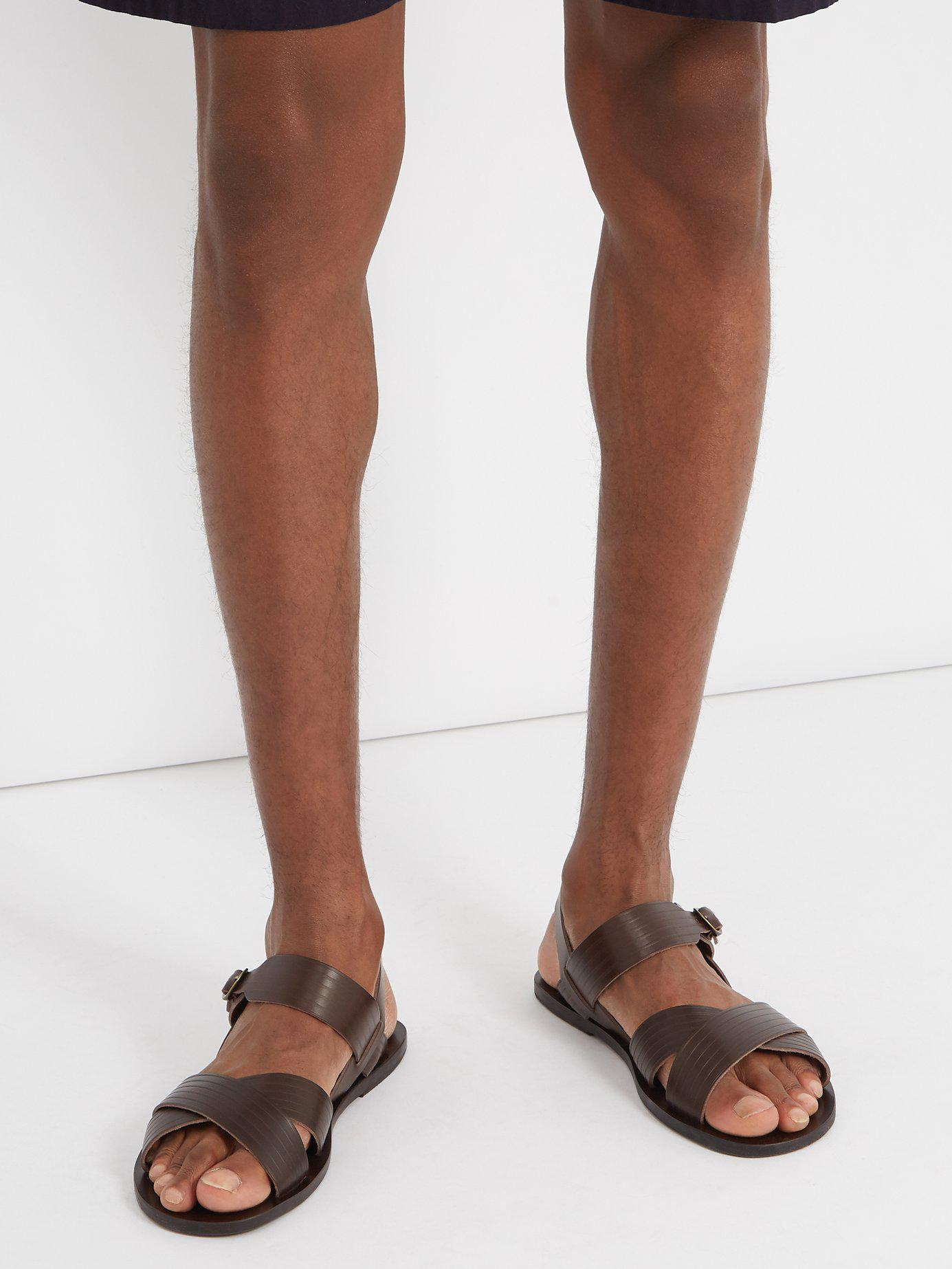 Greek Men Ancient Socrates Brown Leather For Sandals vmnO8N0w