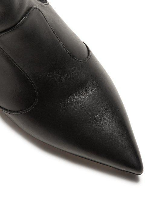 Fendi Leather Rockoko Ankle Boots in Black