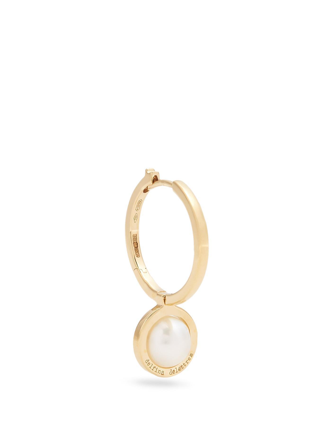 Delfina Delettrez 14kt gold double oval earrings - Metallic TRw7oH9Y1M