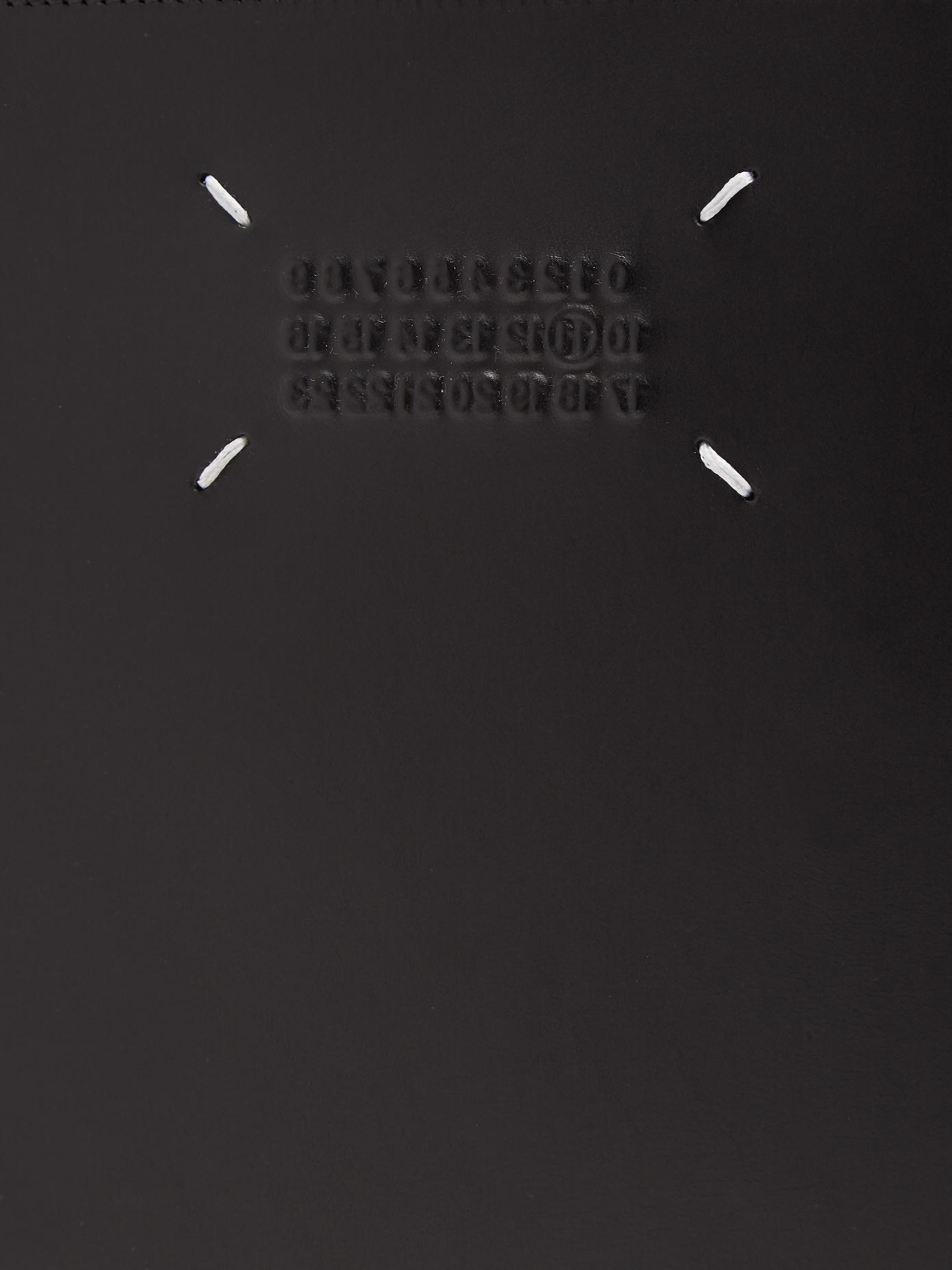buy popular 34561 2d8ca Maison Margiela Logo-embossed Leather Pouch in Black for Men ...