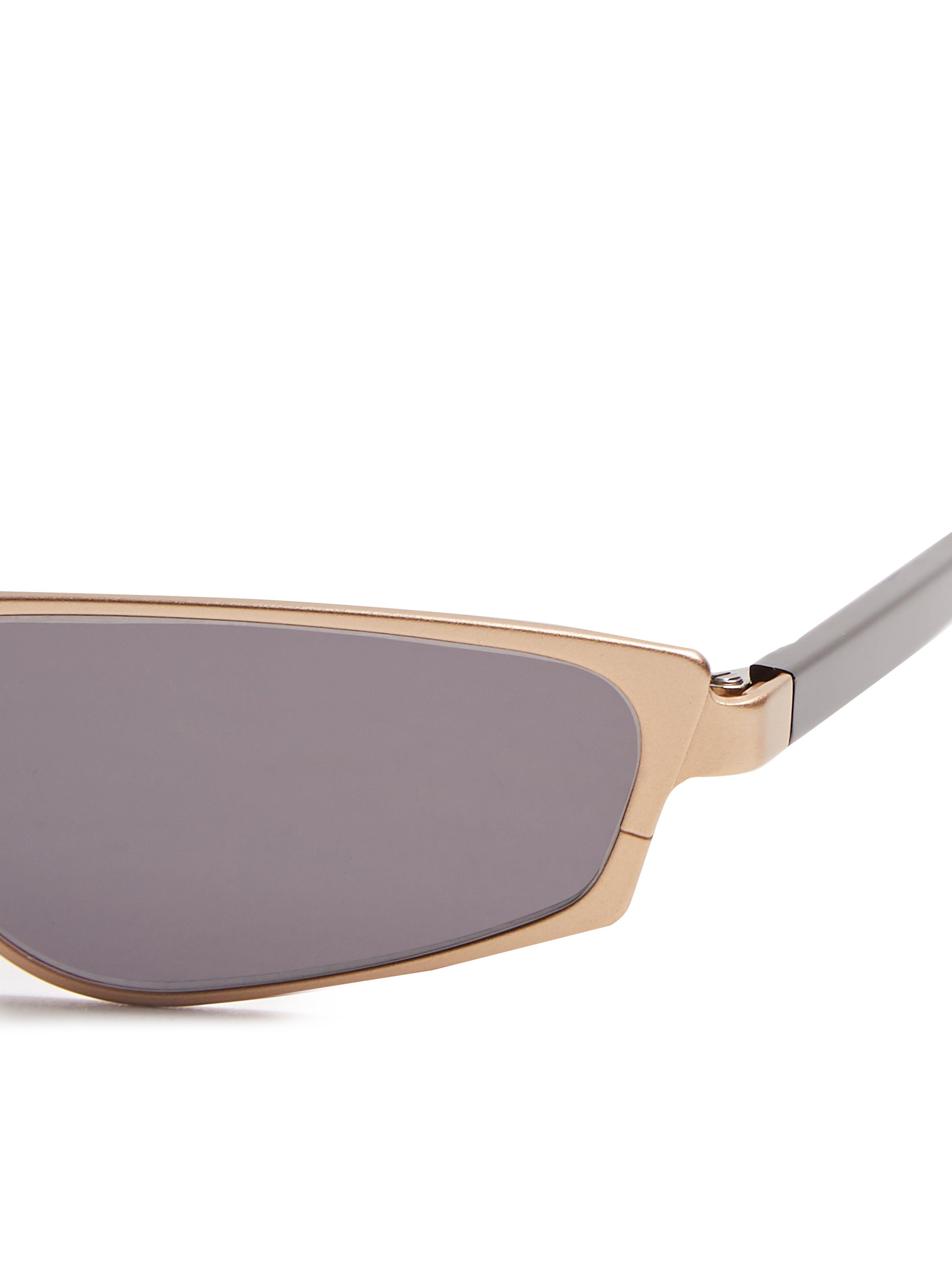 Andy Wolf Ojala Rectangular Metal Sunglasses in Brown for Men