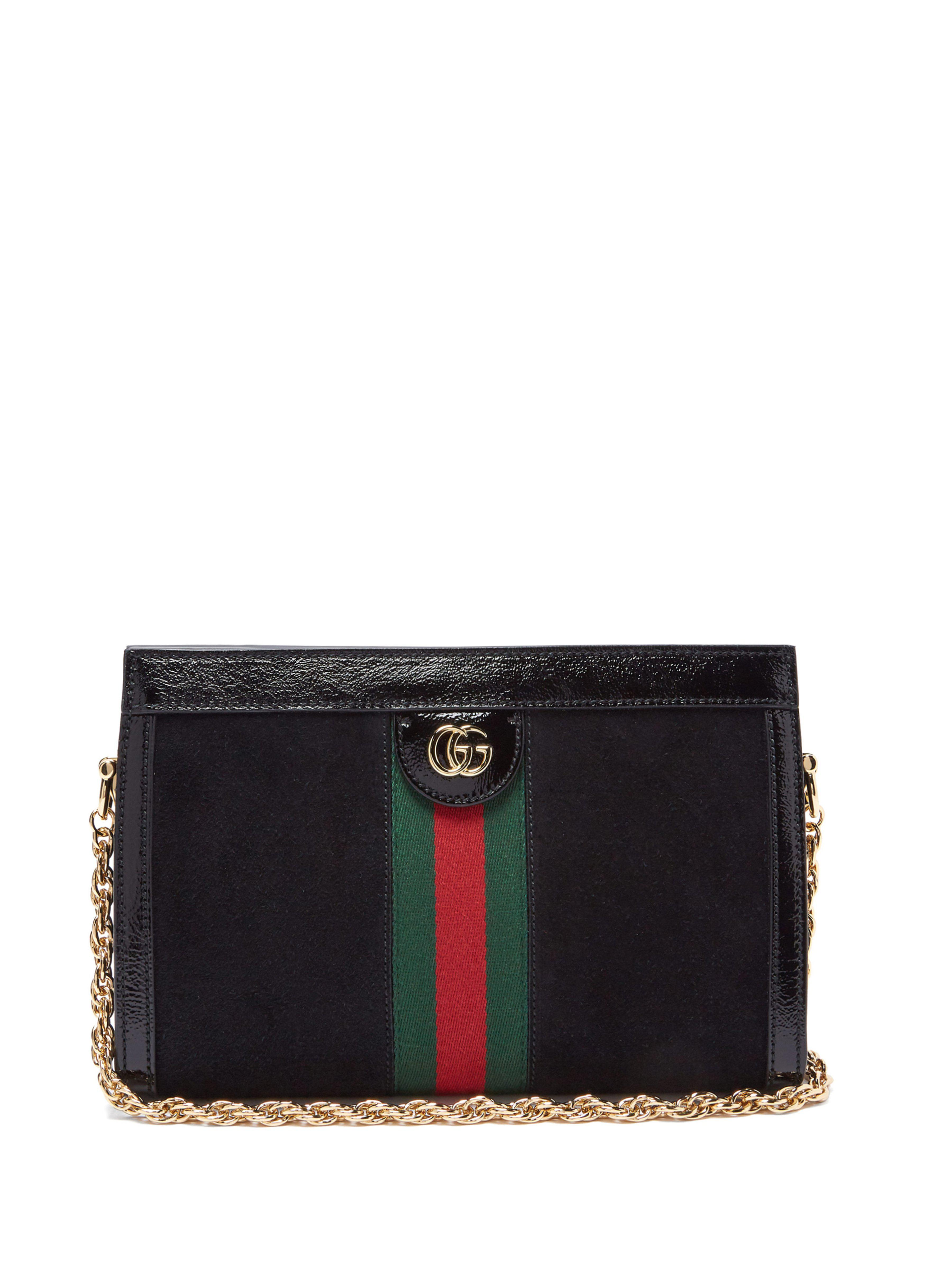 b1fb6ac0171 Gucci Ophidia Small Shoulder Bag in Black - Save 12% - Lyst