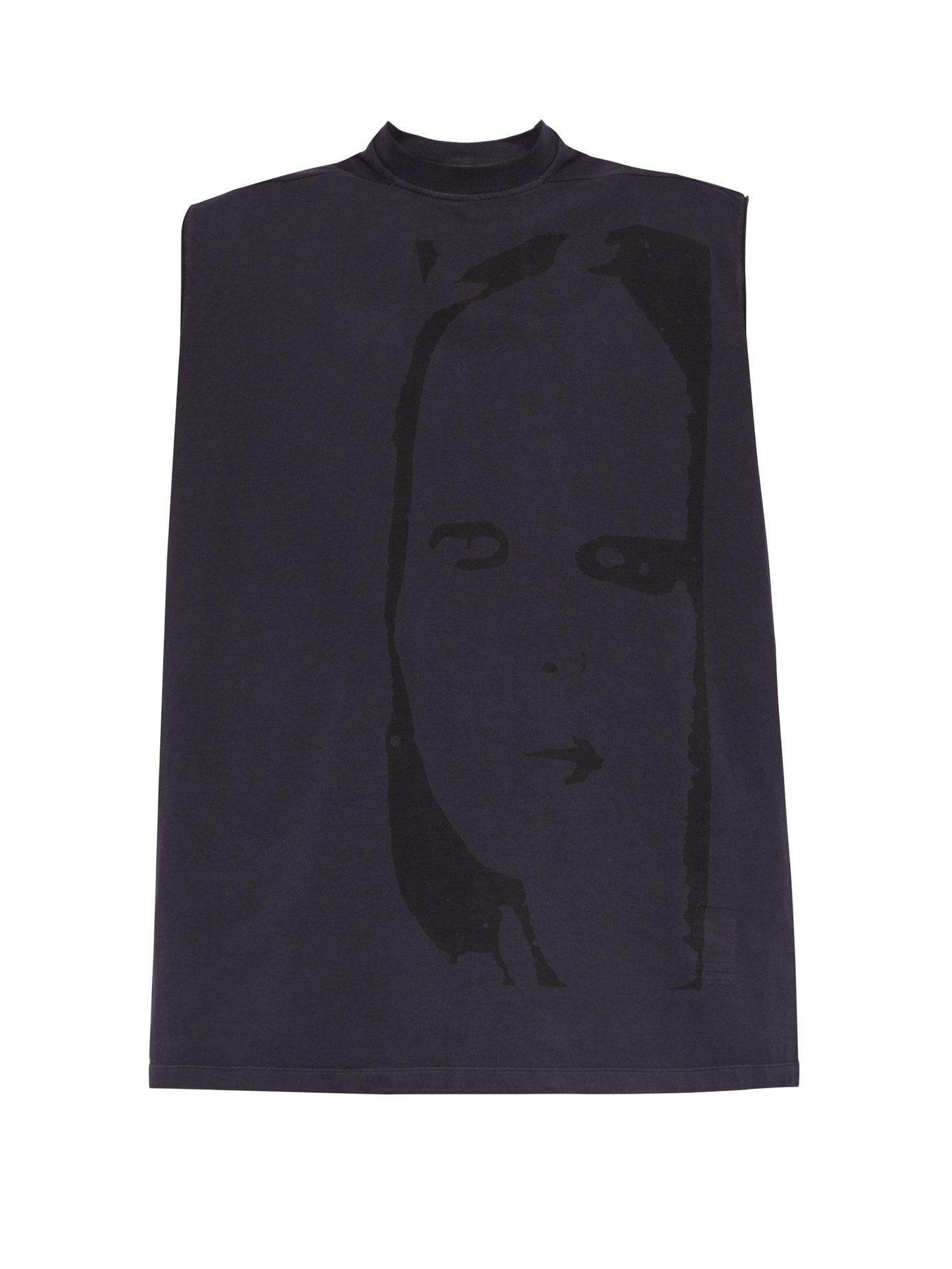 2ae60cef6 Lyst - Rick Owens Drkshdw Tarp Printed Cotton-jersey Top in Blue for ...