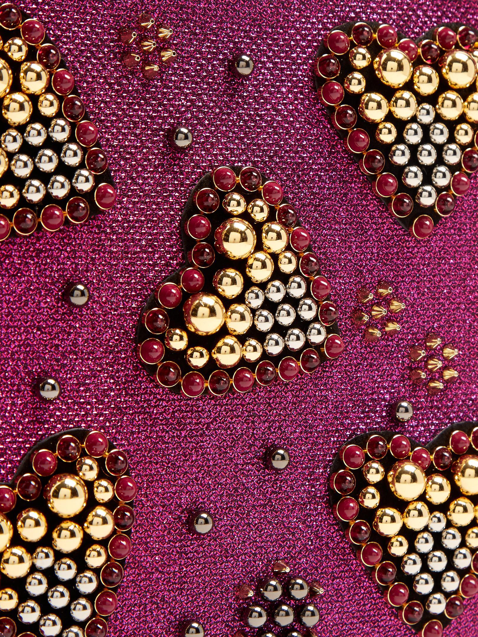fce4b2aa986 Christian Louboutin Loubiposh Spike-embellished Glitter Pouch - Lyst