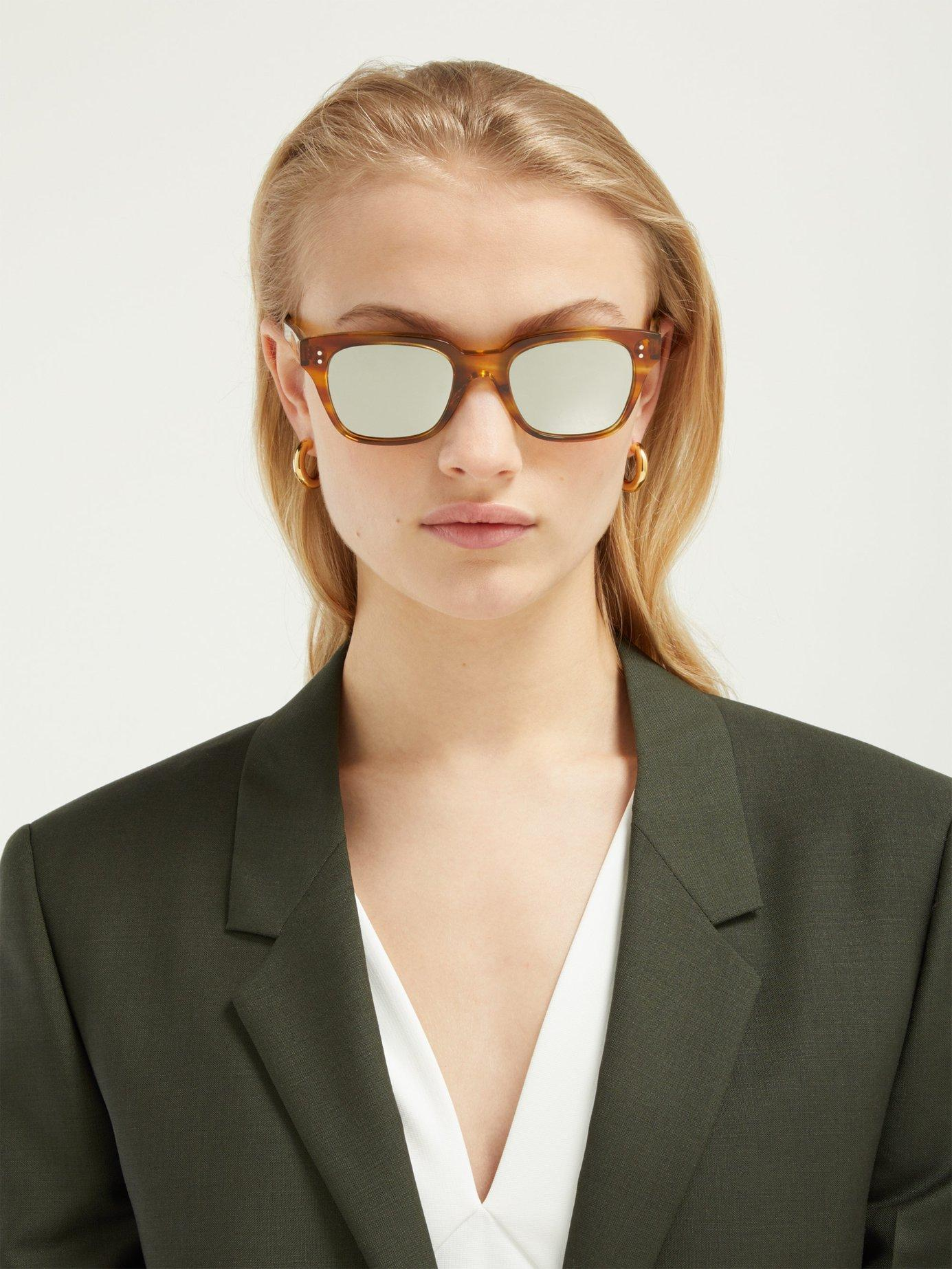 Mirrored Sunglasses Mirrored D Women's D Frame Women's BrCeodx