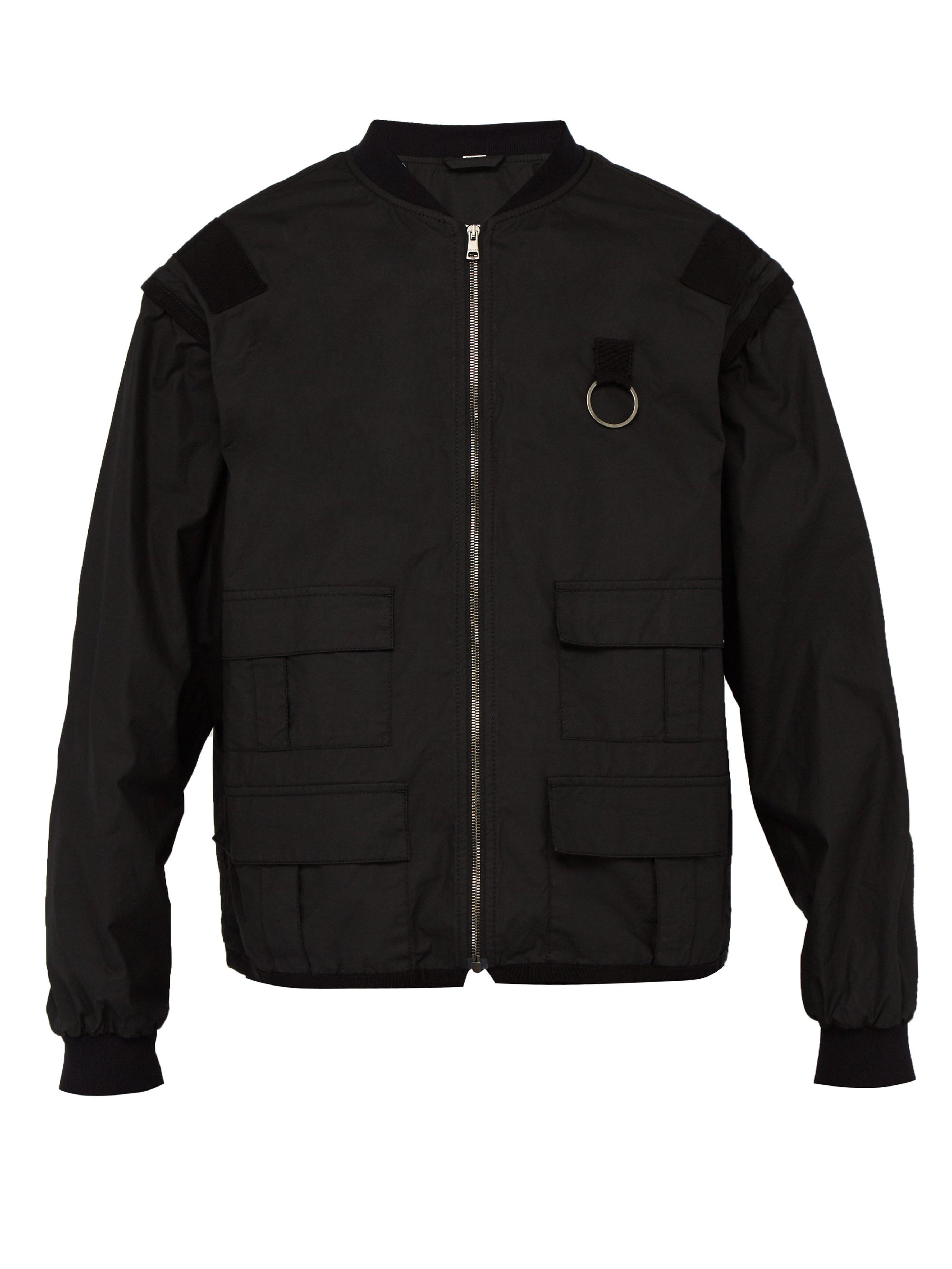 3b3a1cc5a Gucci Logo Print Detachable Sleeve Cotton Jacket in Black for Men - Lyst