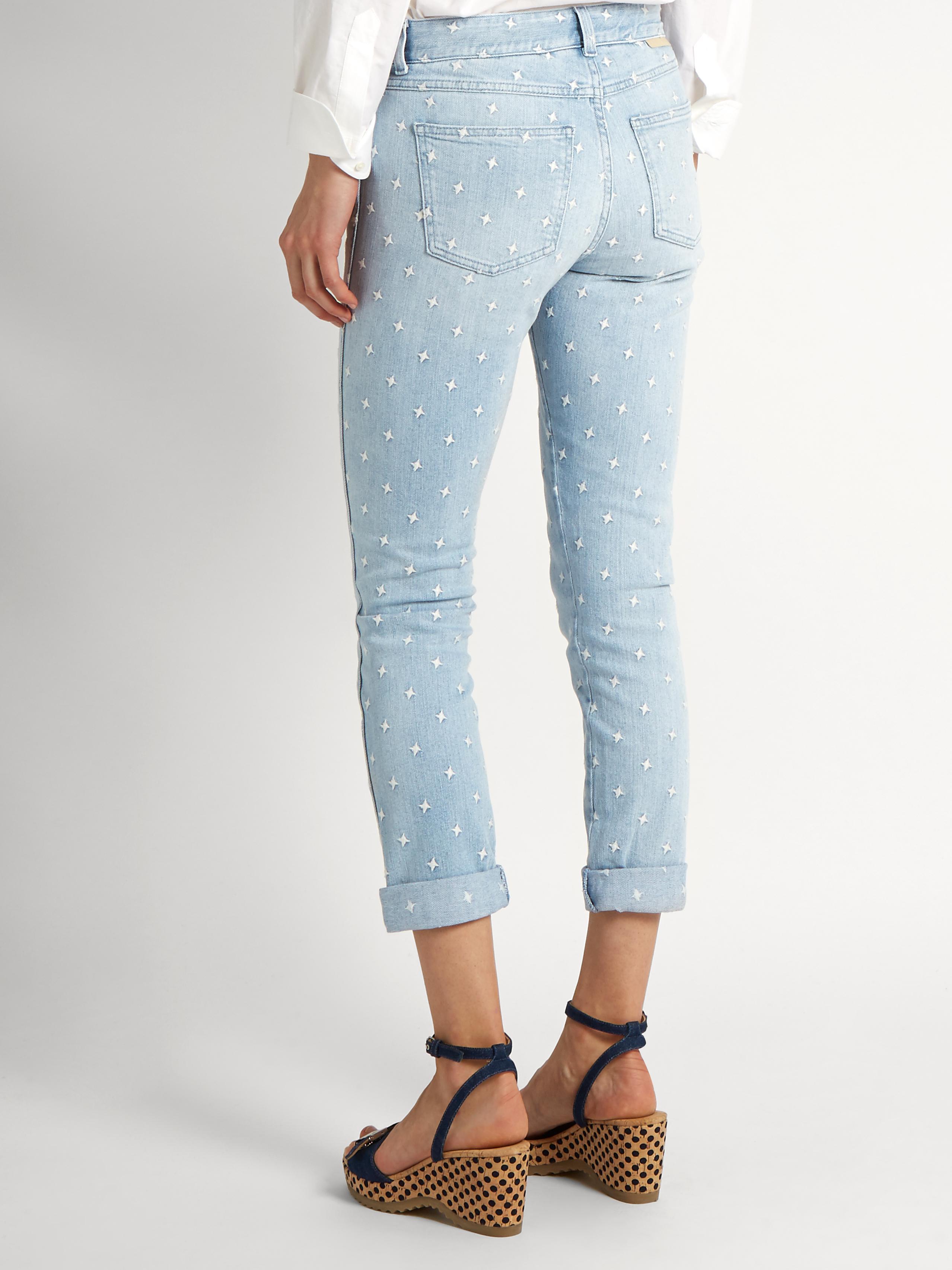 Cheap Sale Enjoy Release Dates Sale Online Distressed Slim Boyfriend Jeans - Light denim Stella McCartney Browse Online 6MsCaPx