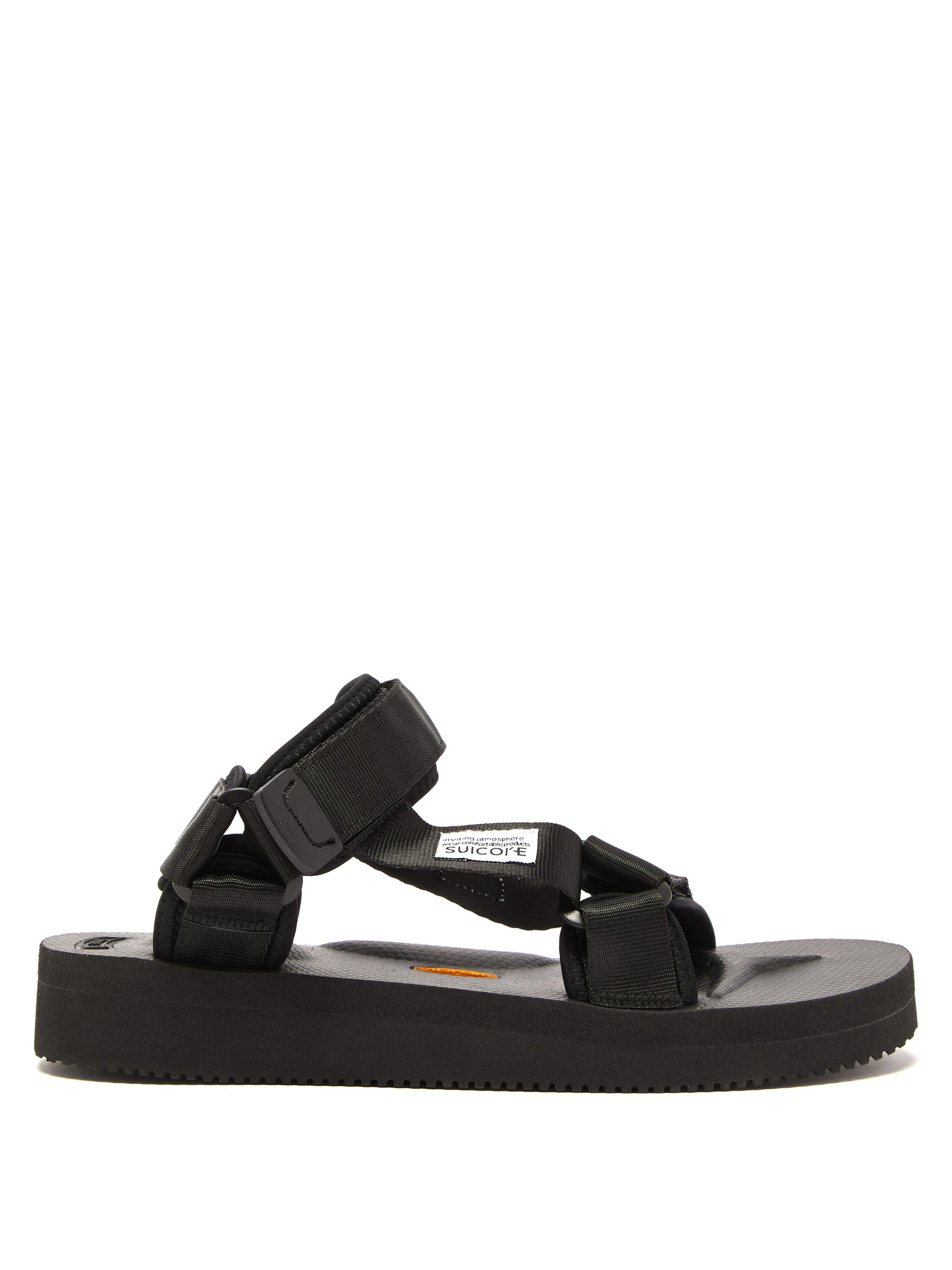 edd2cf46035 Suicoke Depa V2 Velcro Strap Sandals in Black - Lyst