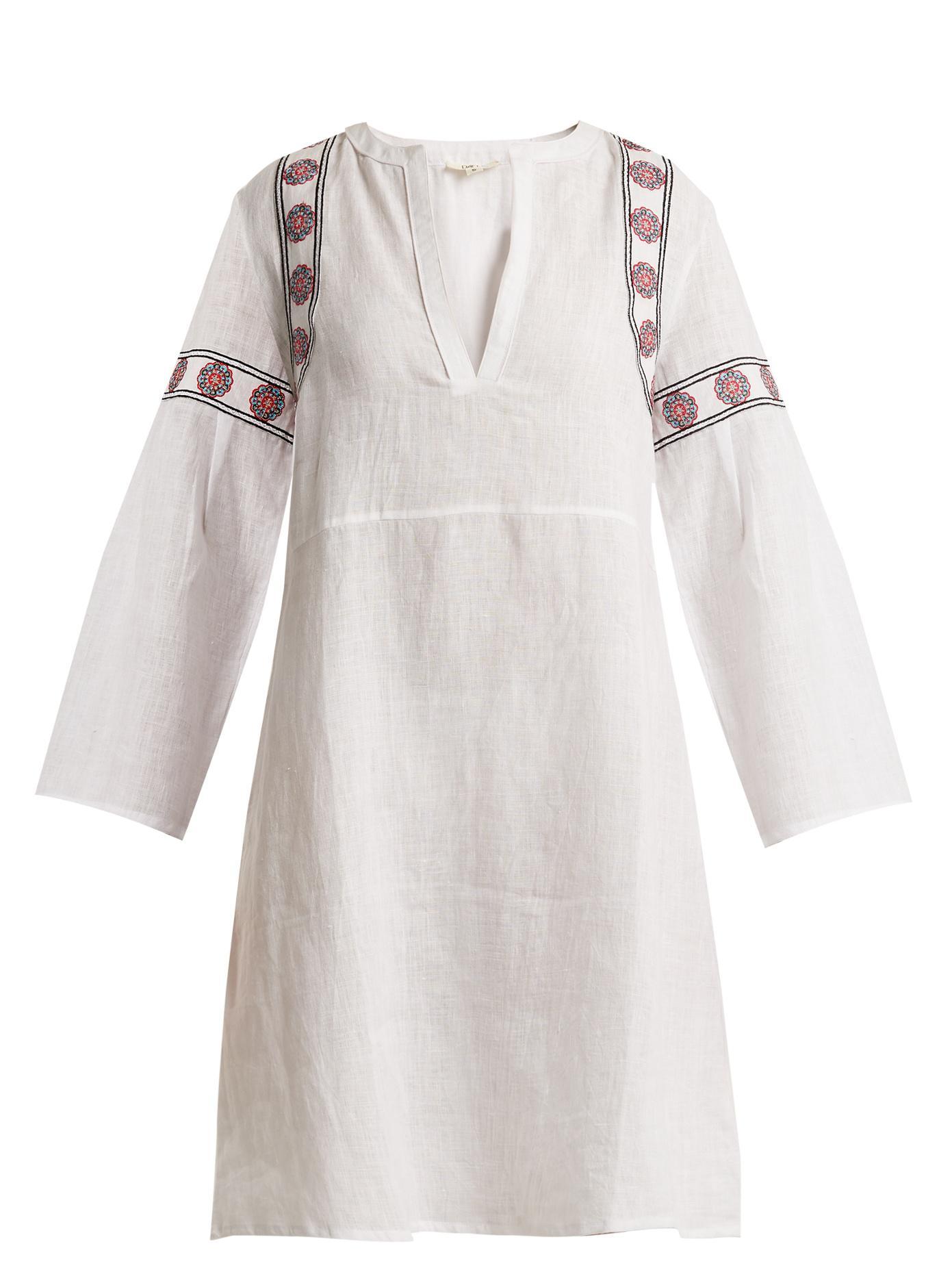 Discount The Cheapest Buy Cheap Hot Sale Pantelleria embroidered-linen kaftan dress Daft Best Seller Shopping Online Cheap Price lYouaIyPzW