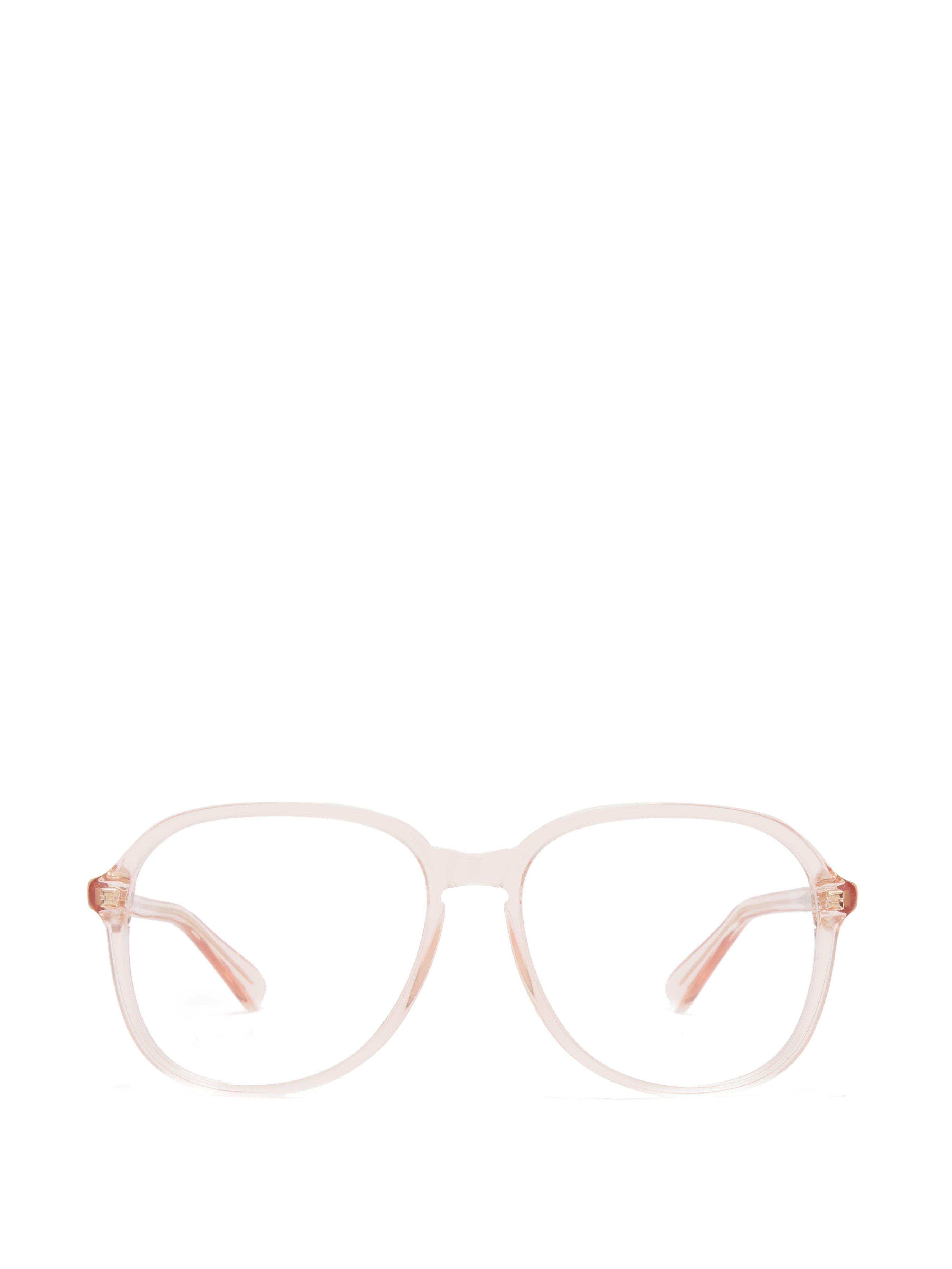 e643ae0d34148 Gucci Square Frame Acetate Glasses in Pink - Lyst