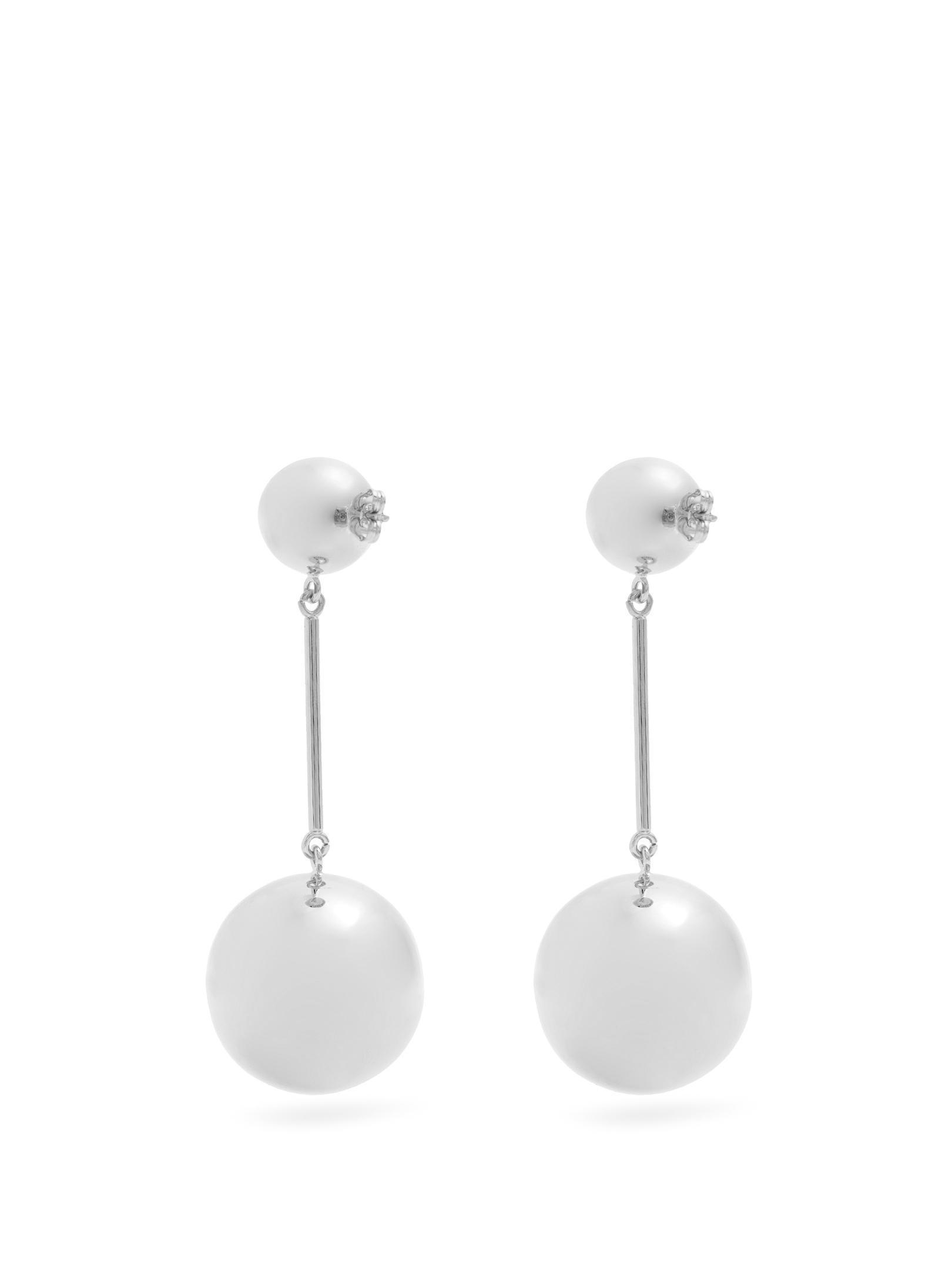 J.W.Anderson Sphere palladium-plated earrings DfX6Dh
