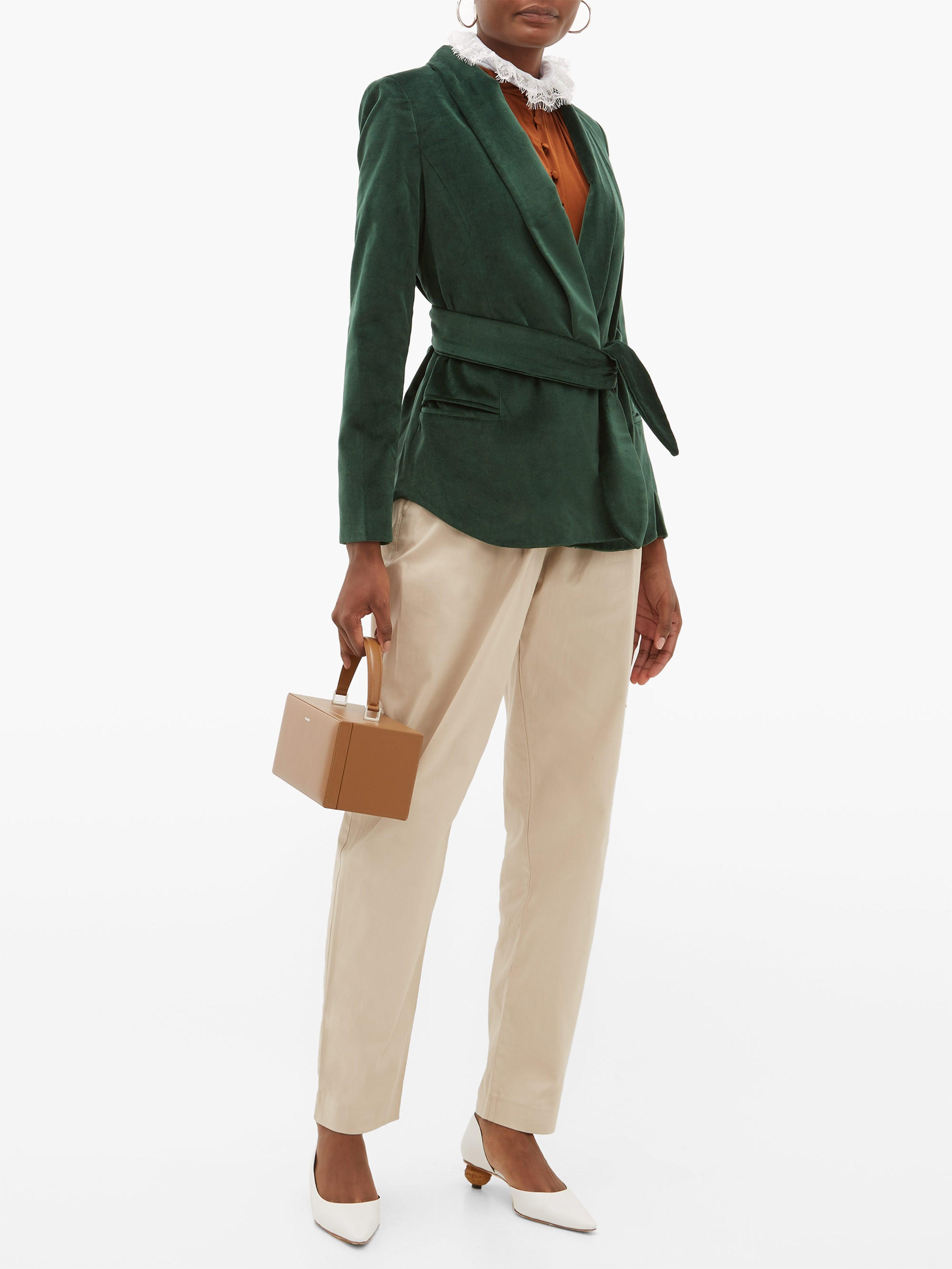 Blazer en velours de coton Tero Coton Acheval Pampa en coloris Vert
