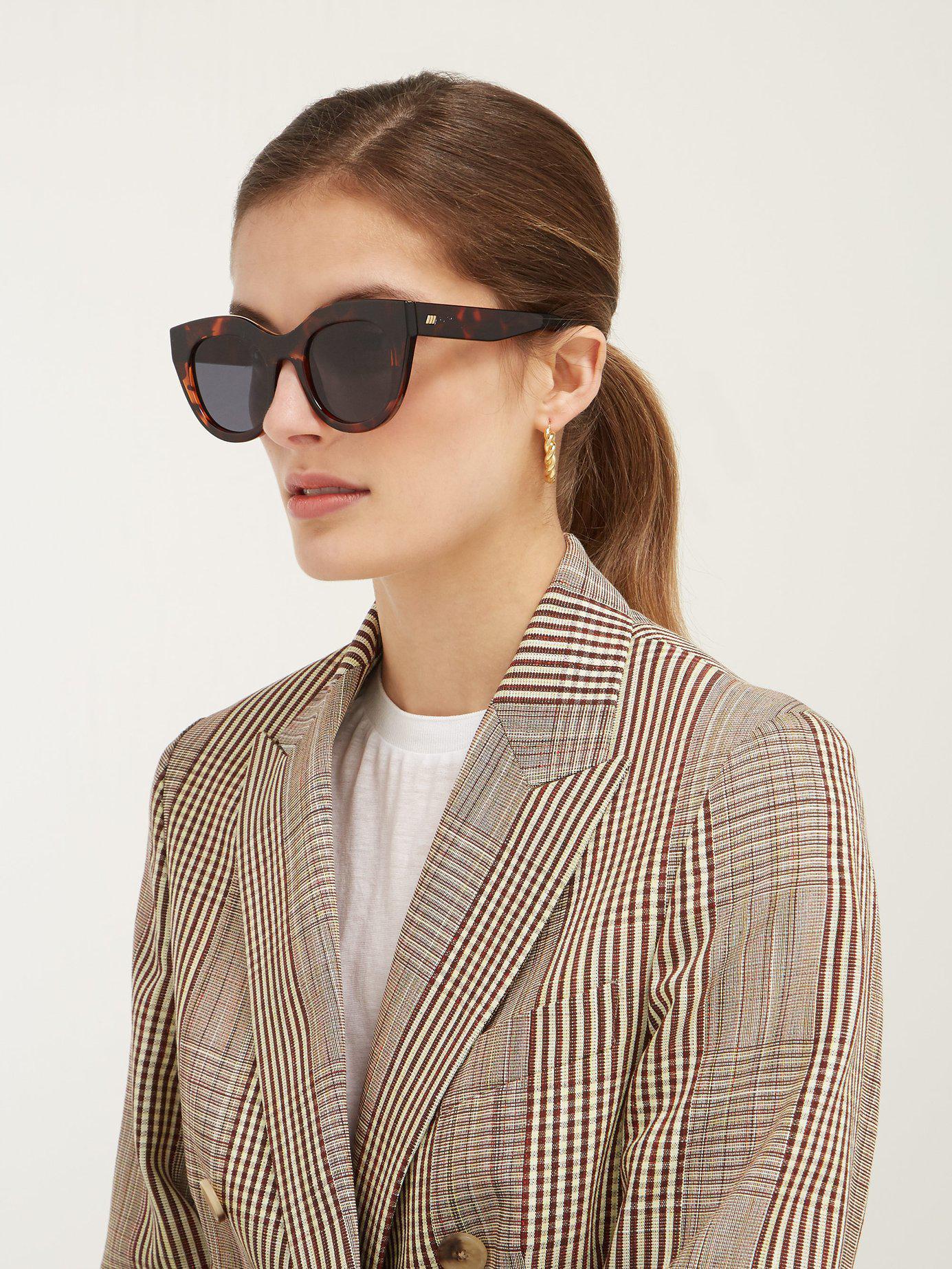 24ce3785916 Lyst - Le Specs Air Heart Cat Eye Acetate Sunglasses