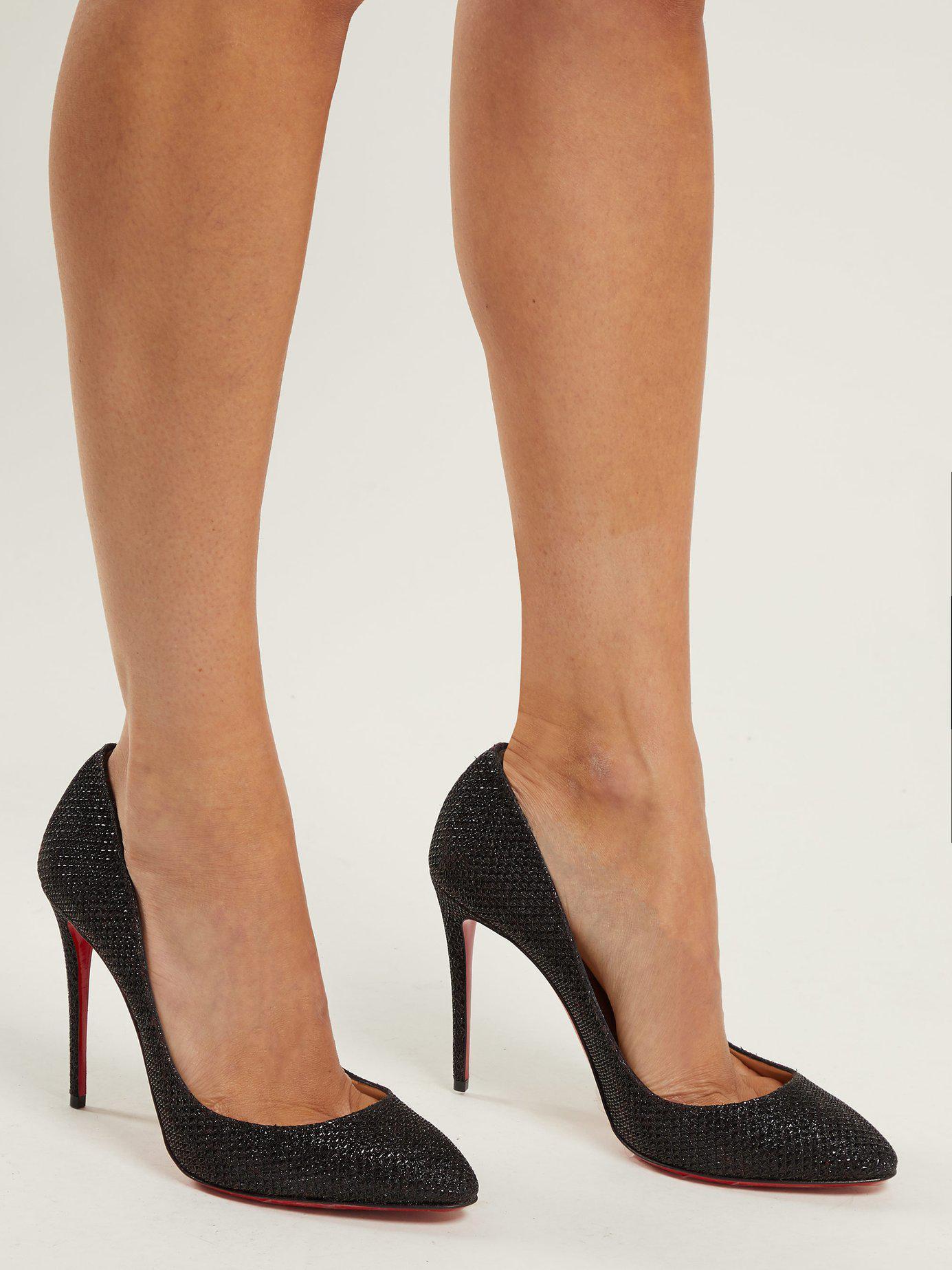 sale retailer 876ab e7367 Women's Black Eloise 100 Glitter Pumps