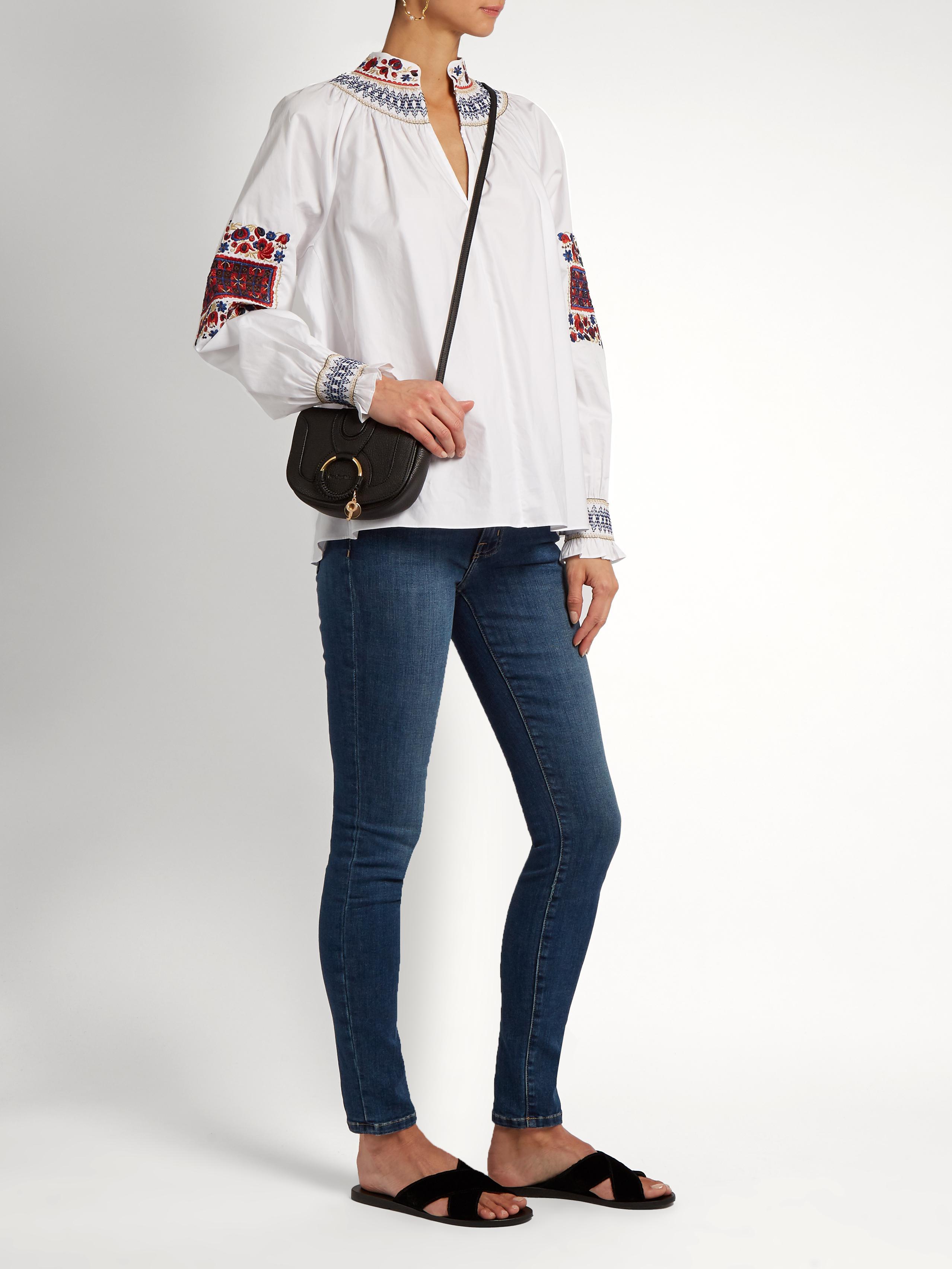a948e4f38d524 Lyst - See By Chloé Hana Mini Leather Cross-body Bag in Black