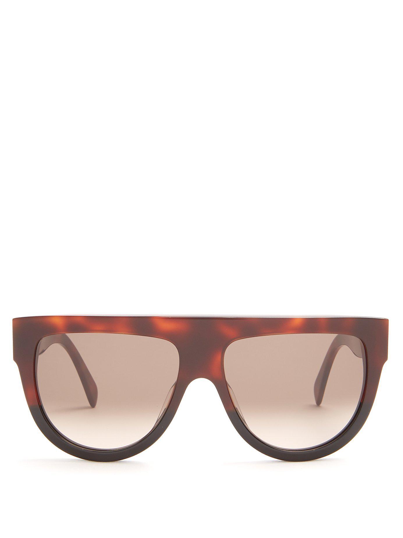 e29608a7ea08 Lyst - Céline Shadow D Frame Acetate Sunglasses in Brown - Save 3%
