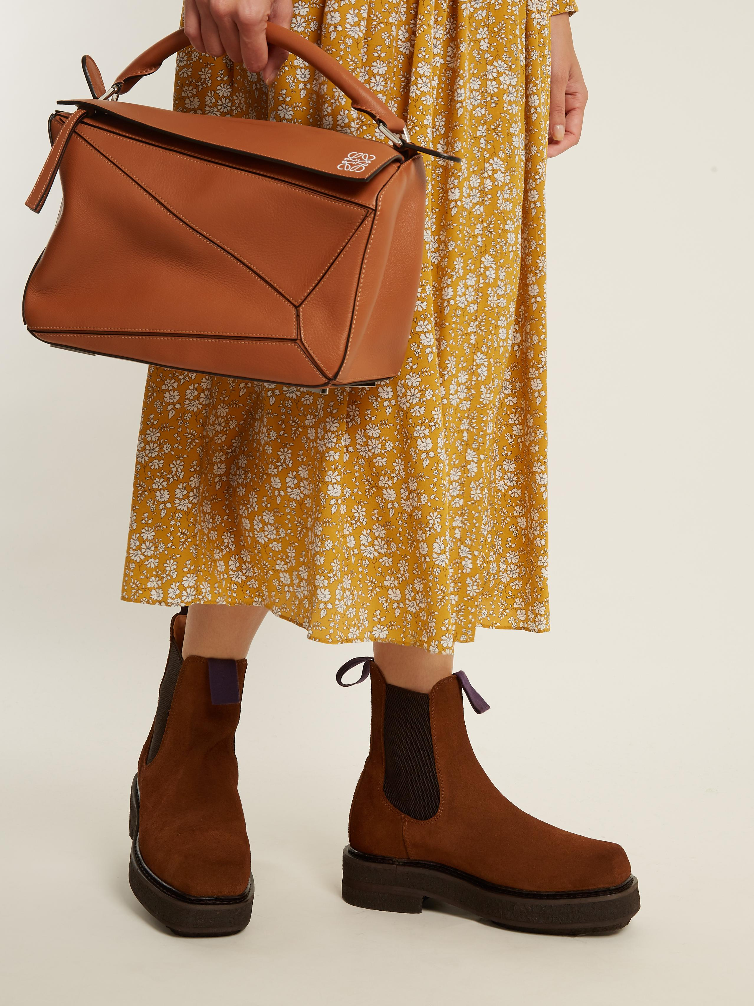 lovely design cheap price sells Eytys Ortega Suede Chelsea Boots in Dark Tan (Brown) - Lyst