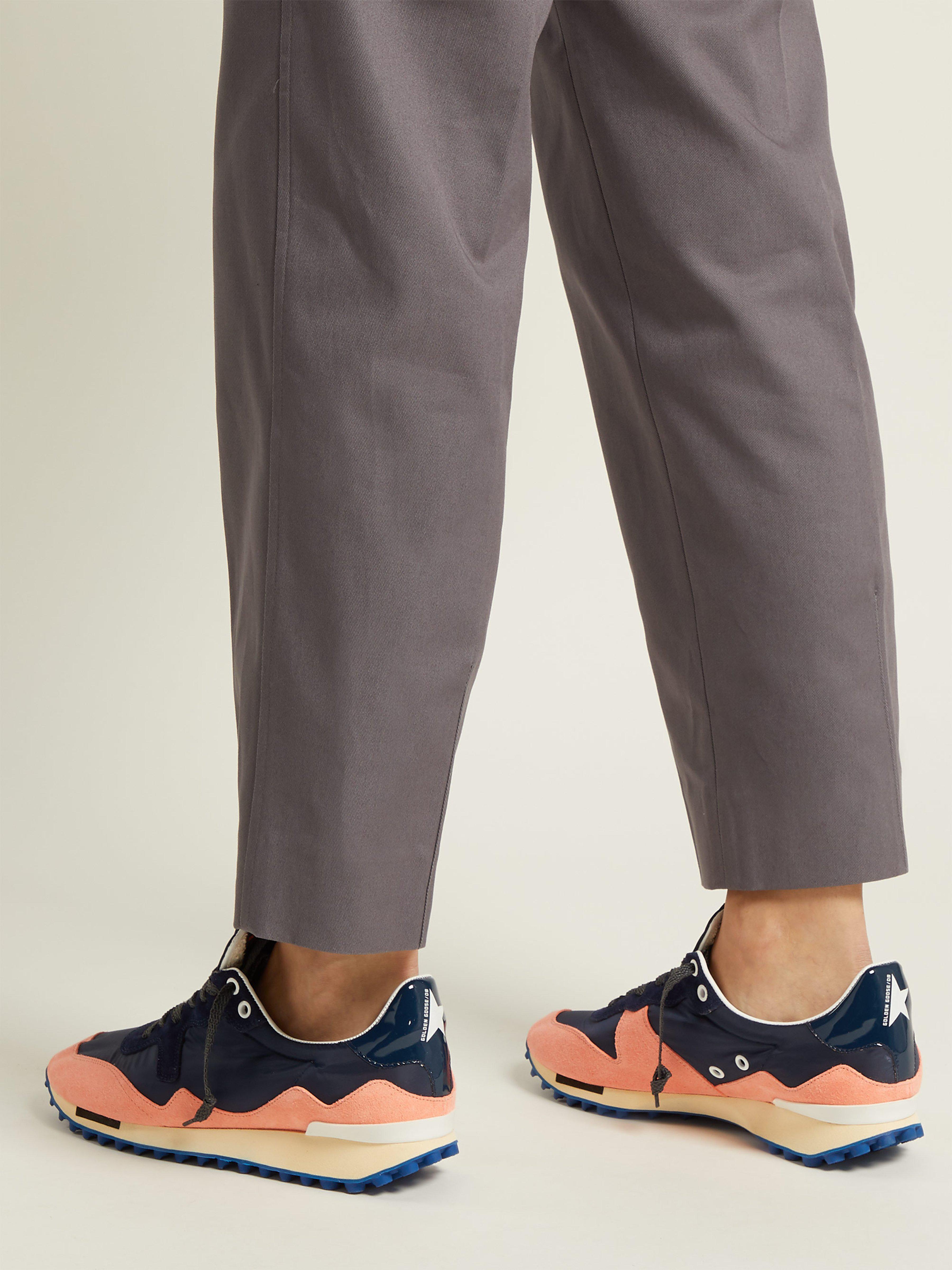 Golden Goose Deluxe Brand Goose Starland Sneakers in Pink Navy (Blue)