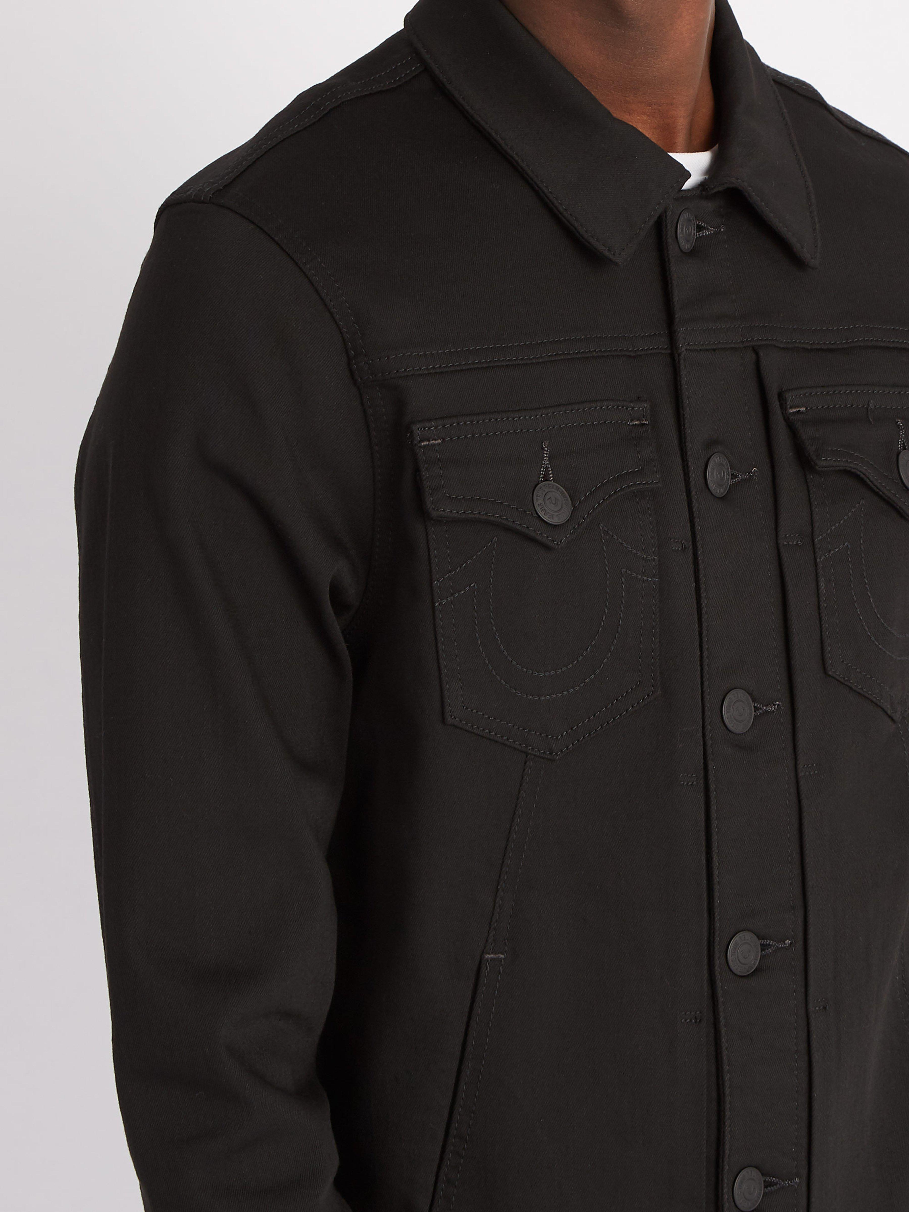 True Religion Dylan Renegade Denim Jacket in Black for Men