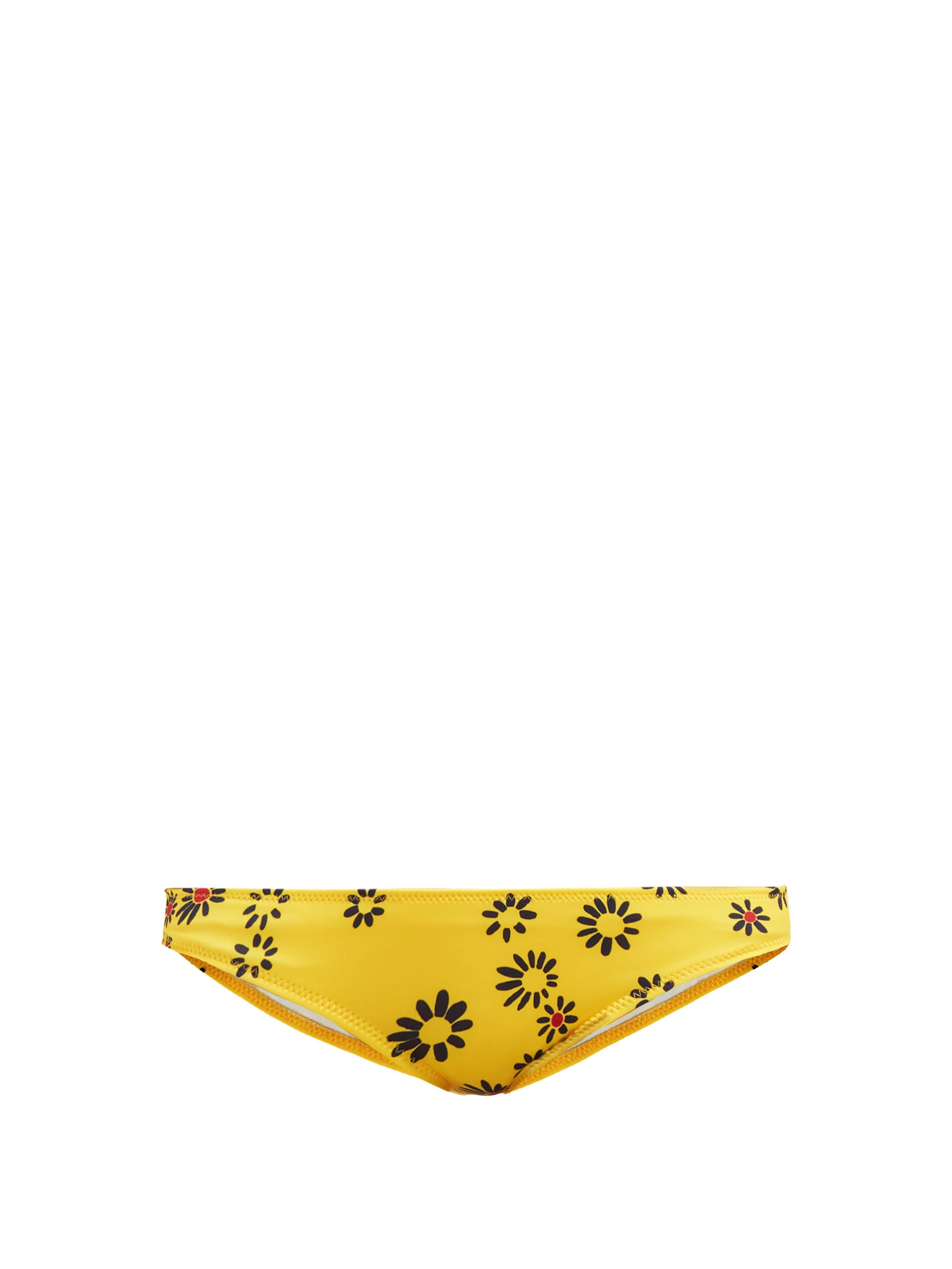 fc3b6a93b7 Solid & Striped The Elle Daisy Print Bikini Briefs in Yellow - Lyst