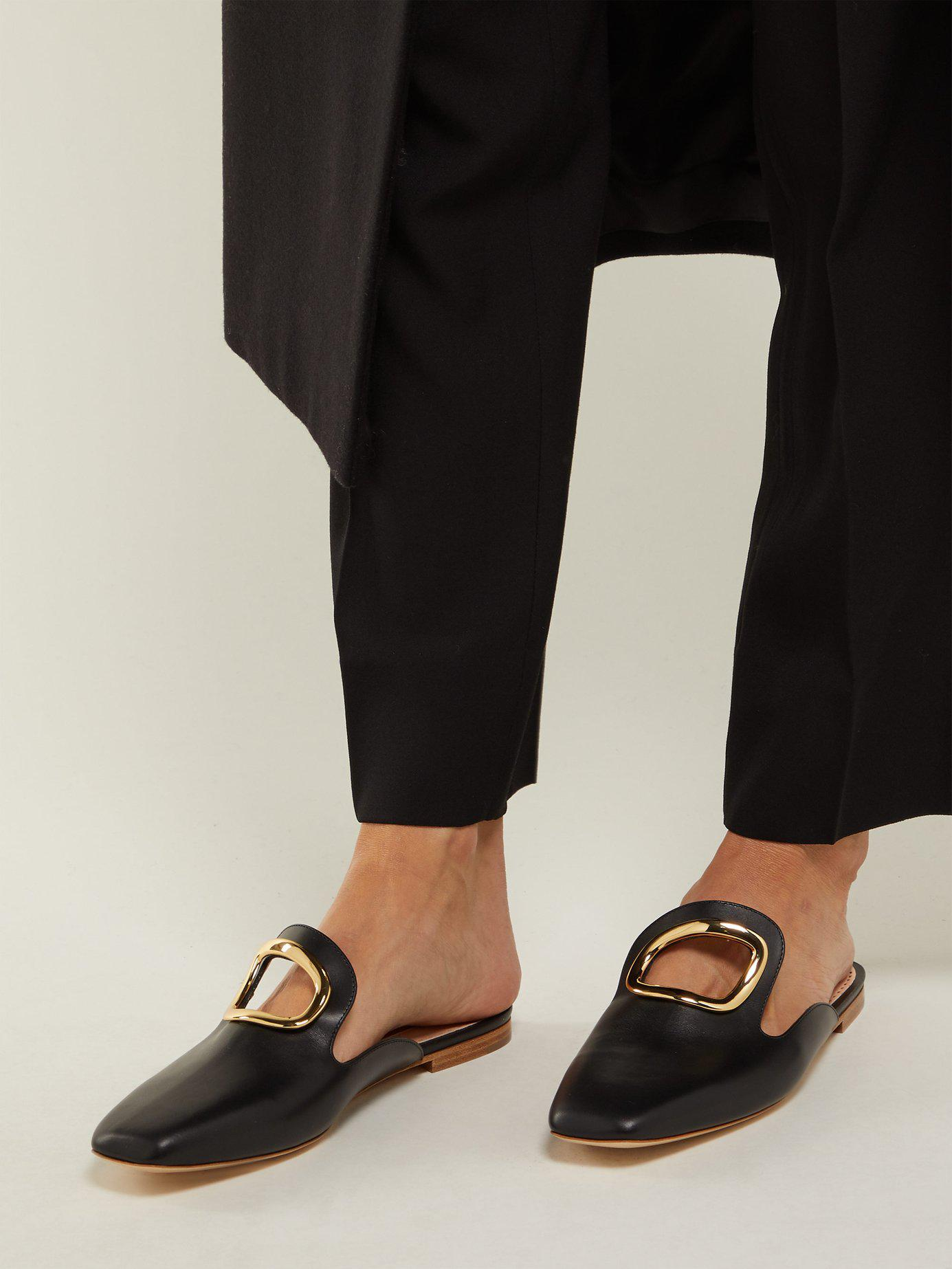 Rupert Sanderson Leather Cut Out Loafers in Black - Save 9% - Lyst