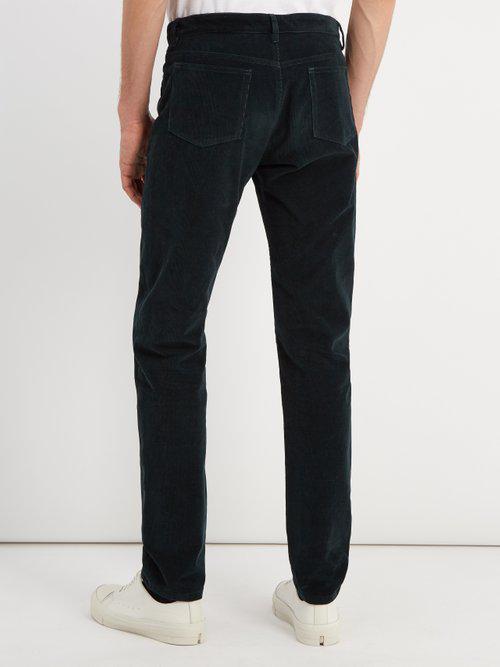 A.P.C. Petit New Standard Slim-leg Corduroy Trousers in Dark Green (Green) for Men