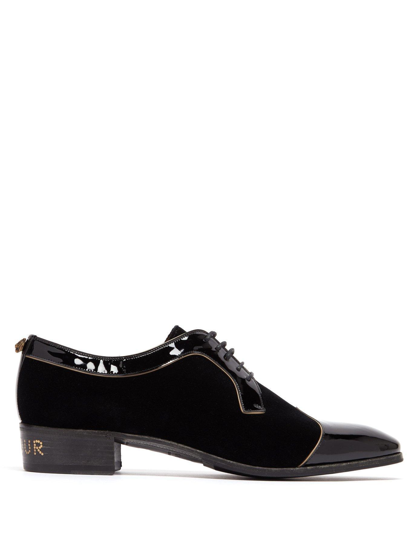 c537a99d12b Lyst - Gucci Réveille L amour Velvet Dress Shoes in Black for Men