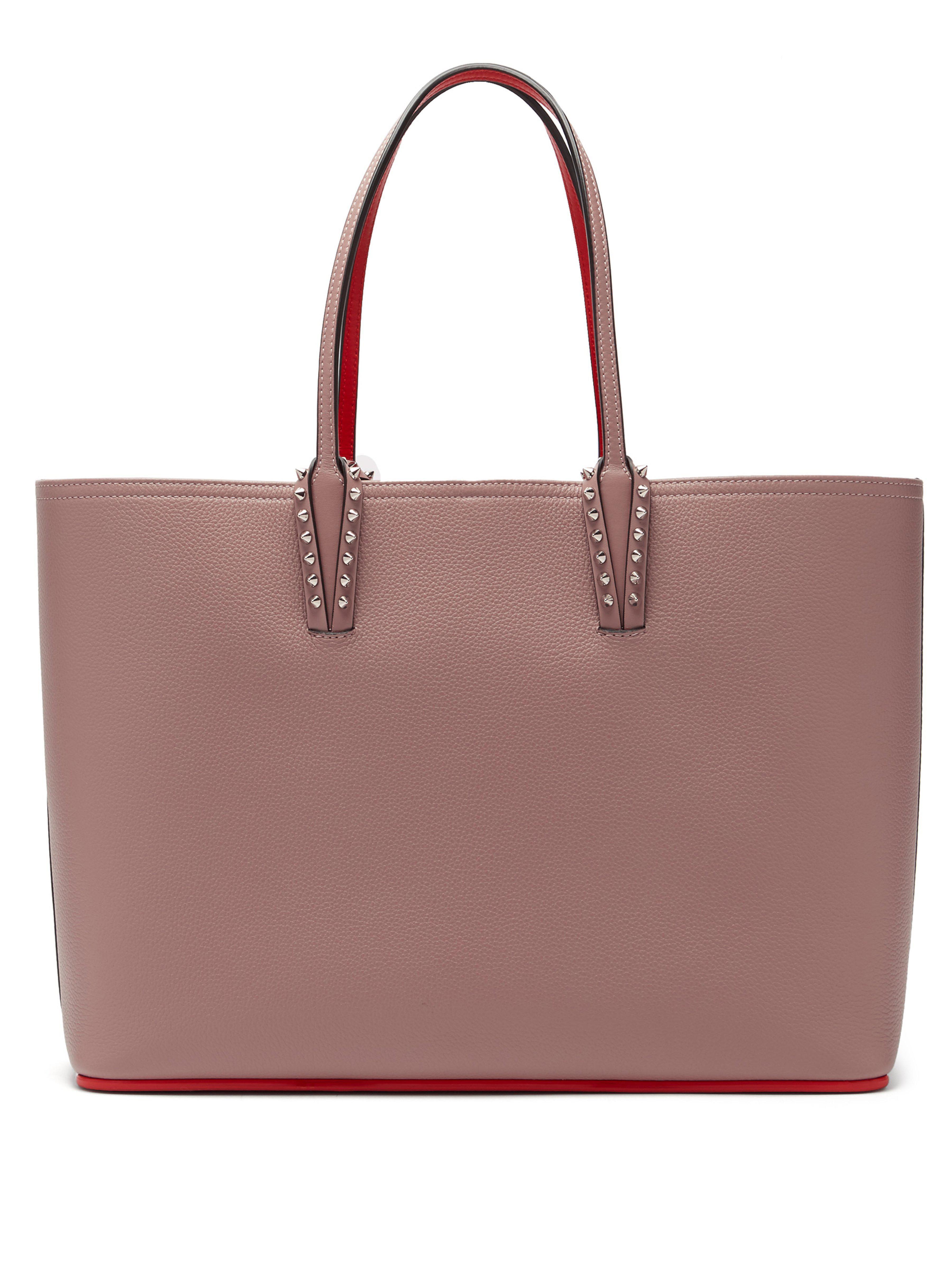 549ebbb2da21 Christian Louboutin Cabata Spike Embellished Tote Bag in Pink - Lyst