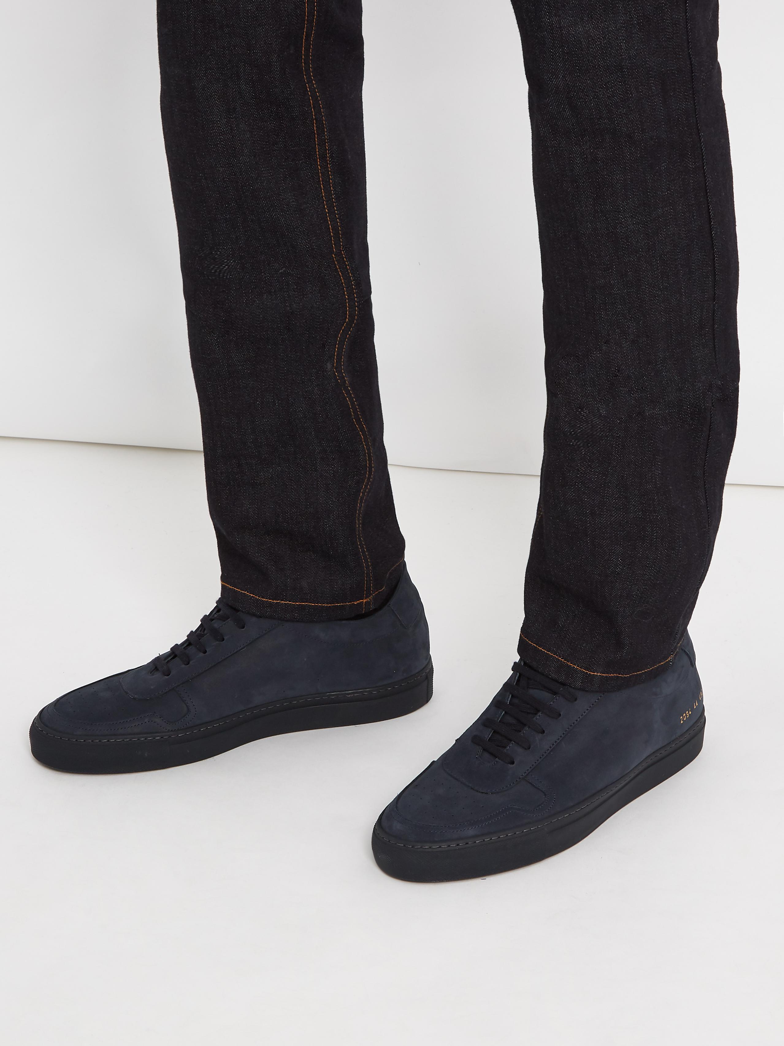 5d33a592e32 Common Projects Blue B Ball Nubuck Trainers for men