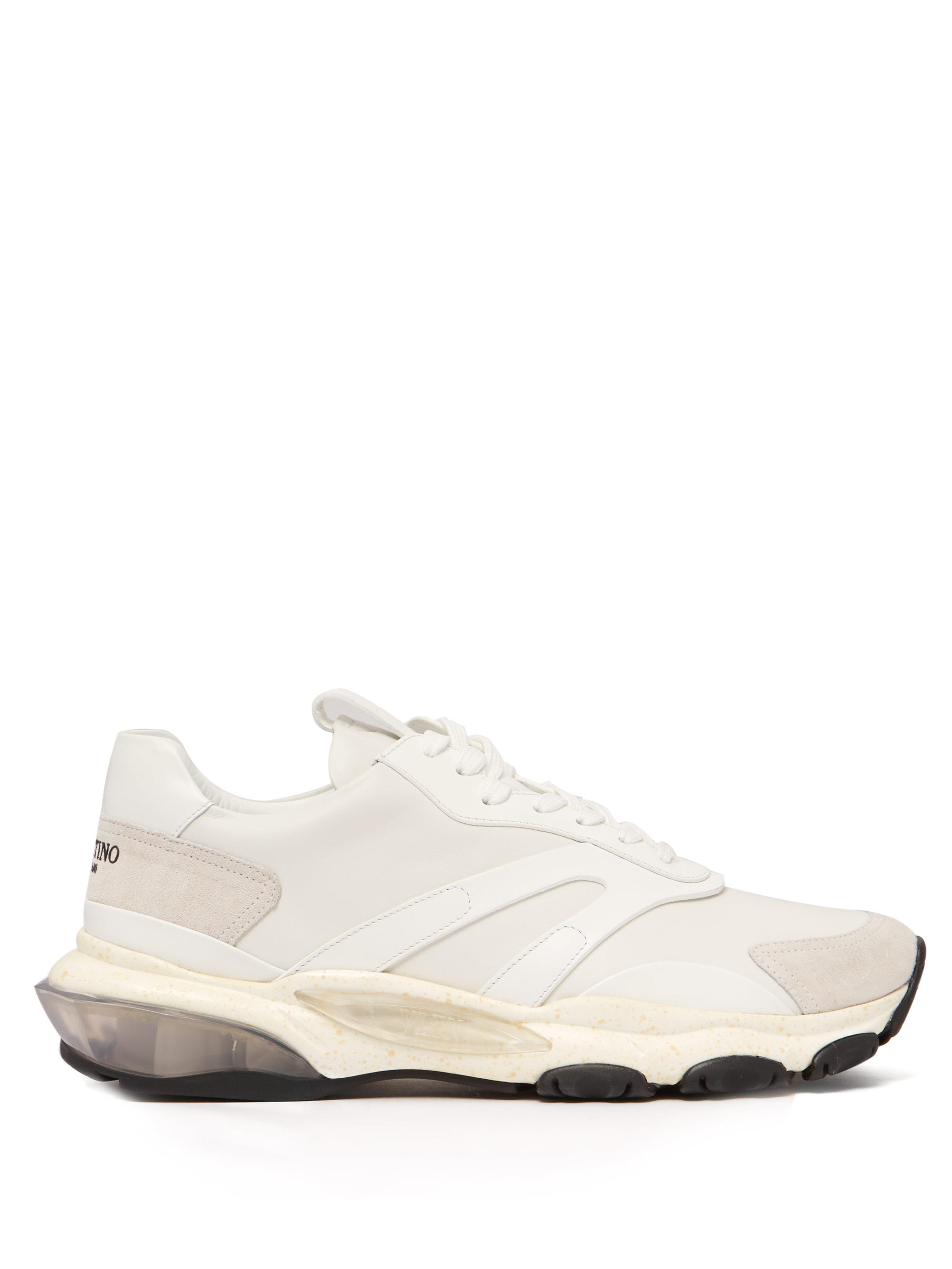 Baskets basses à semelle surélevée Bounce Valentino pour homme en coloris White