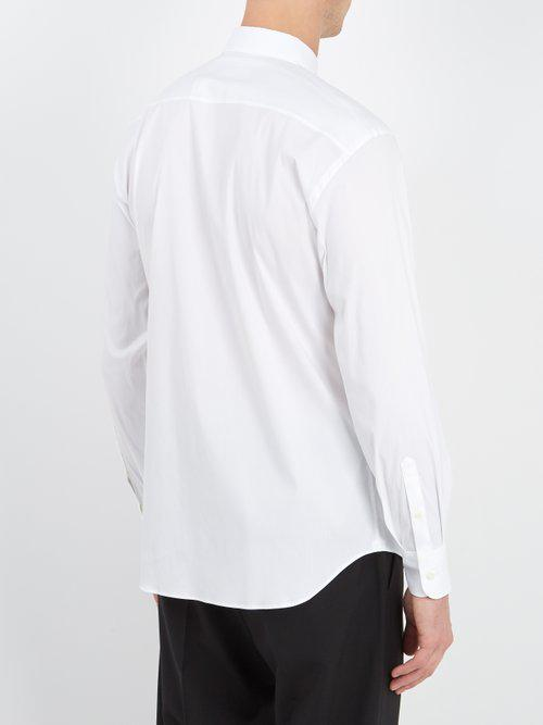Prada Cotton Classic-fit Stretch-poplin Shirt in White for Men