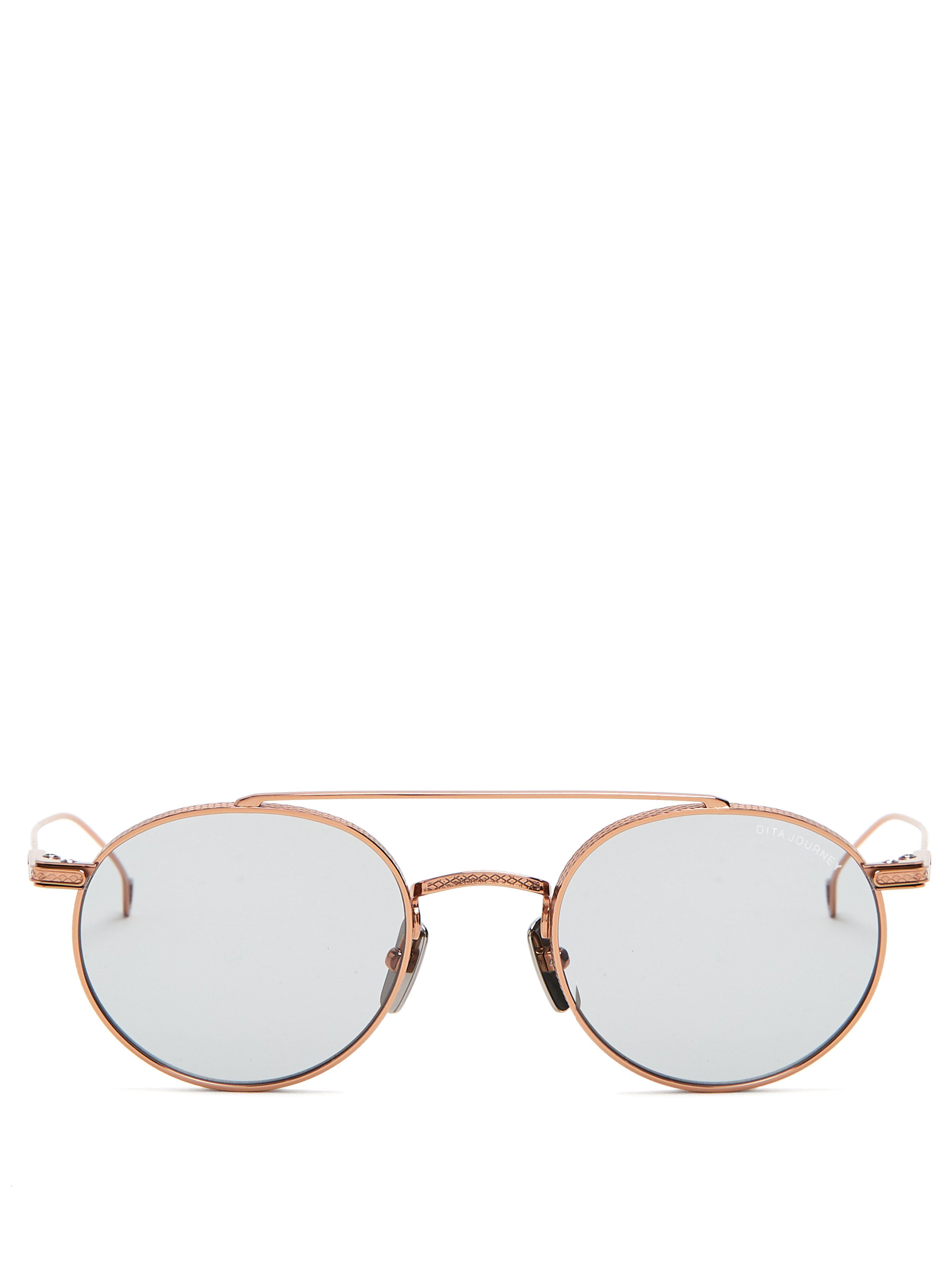 4a80e456c7 Dita Eyewear Journey Round Frame Sunglasses in Metallic for Men - Lyst
