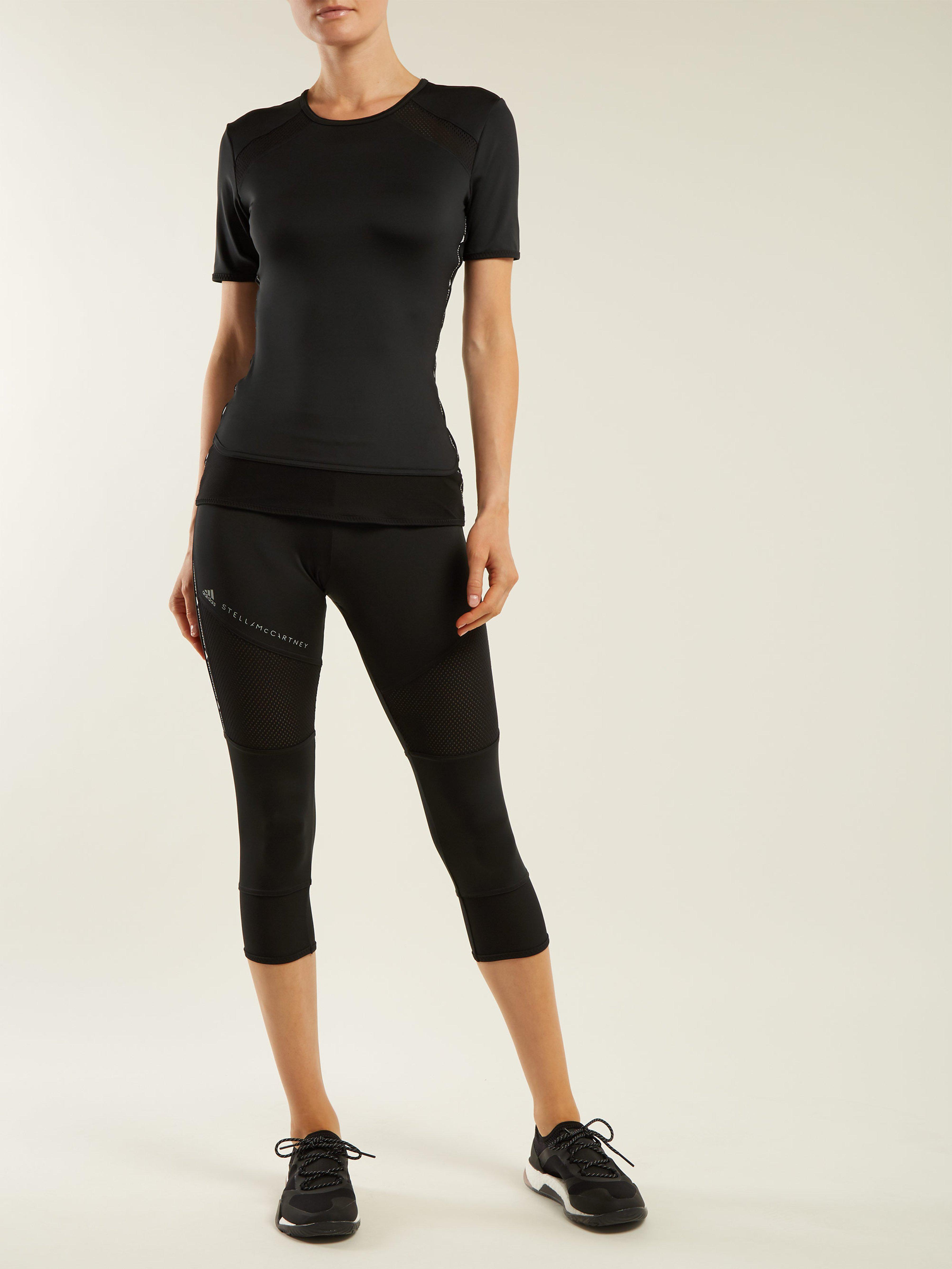 adidas By Stella McCartney Essential Cropped Performance Leggings in Black