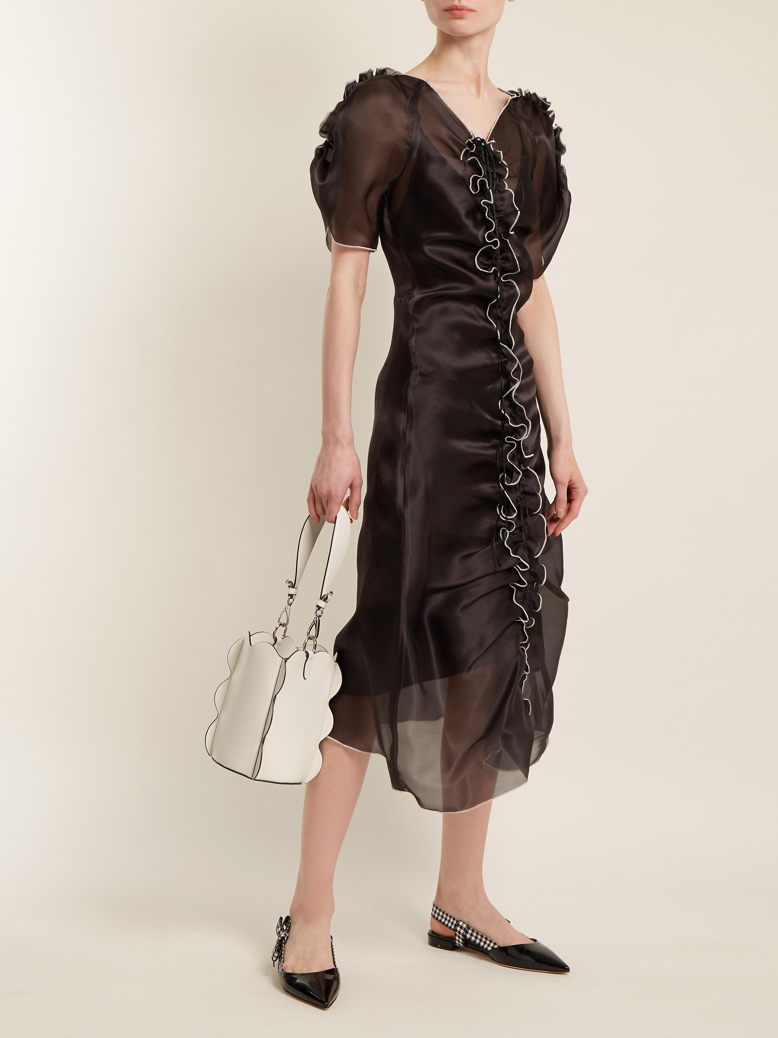 Sale Real Erin ruffle-trimmed silk-organza dress MOLLY GODDARD Buy Cheap Affordable 2018 New Sale Online Cheap Browse Cheap Sale Amazing Price XRsNEQmvbp