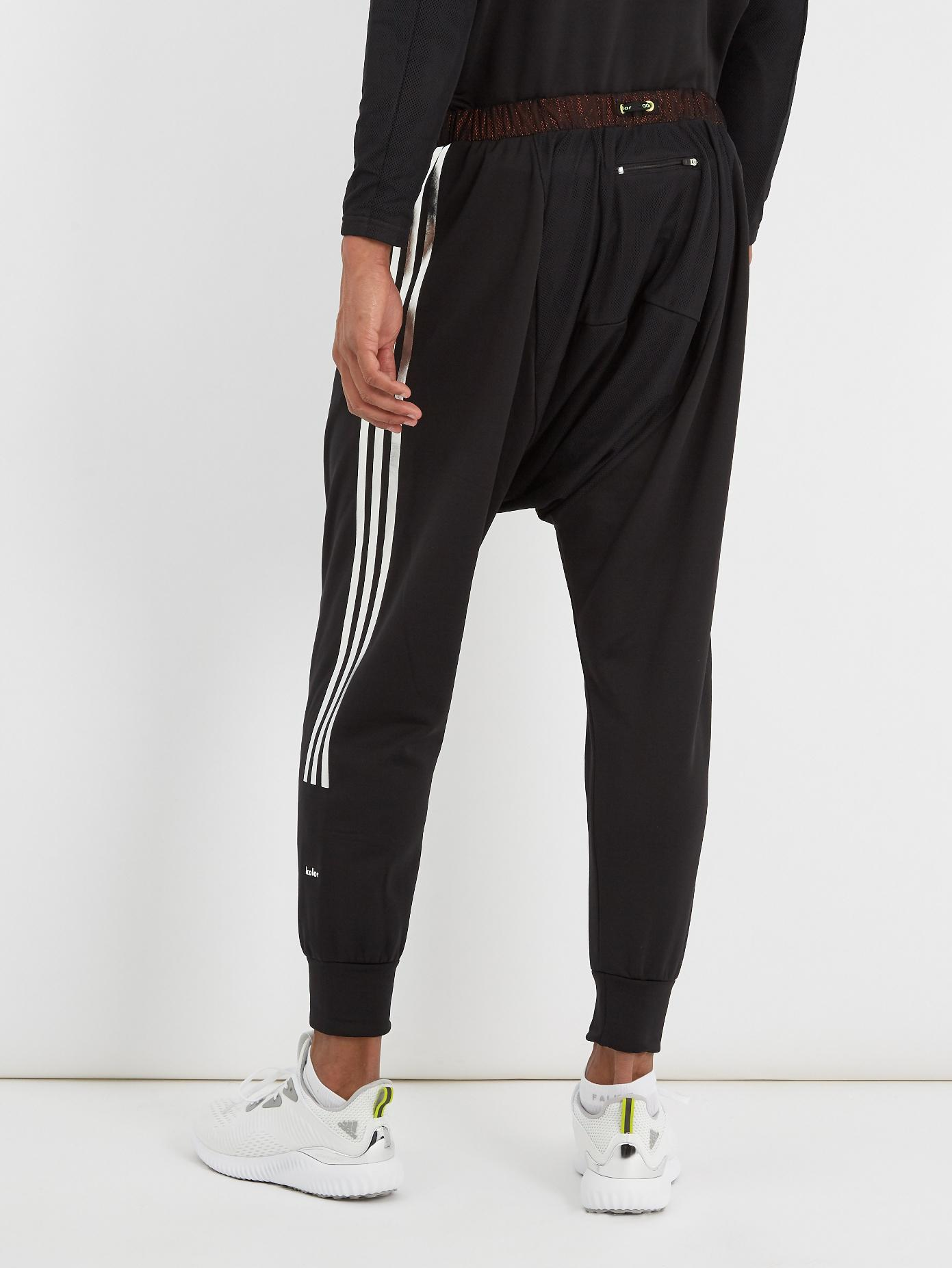 adidas Originals Synthetic Hybrid Jersey Performance Track Pants in Black for Men