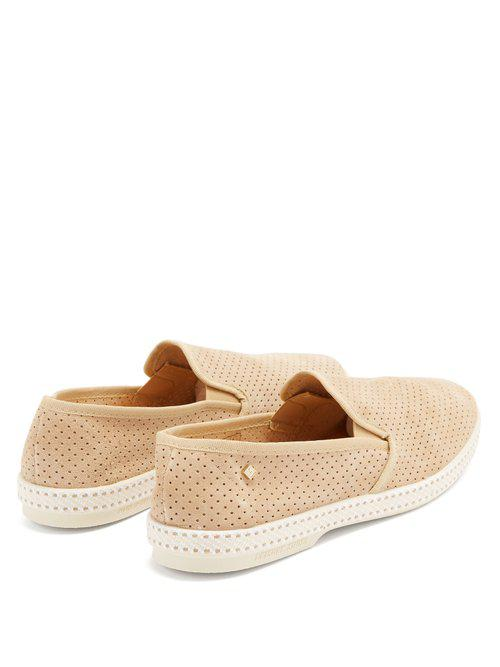 Rivieras Suede Sultan Loafers in Light Beige (Natural) for Men