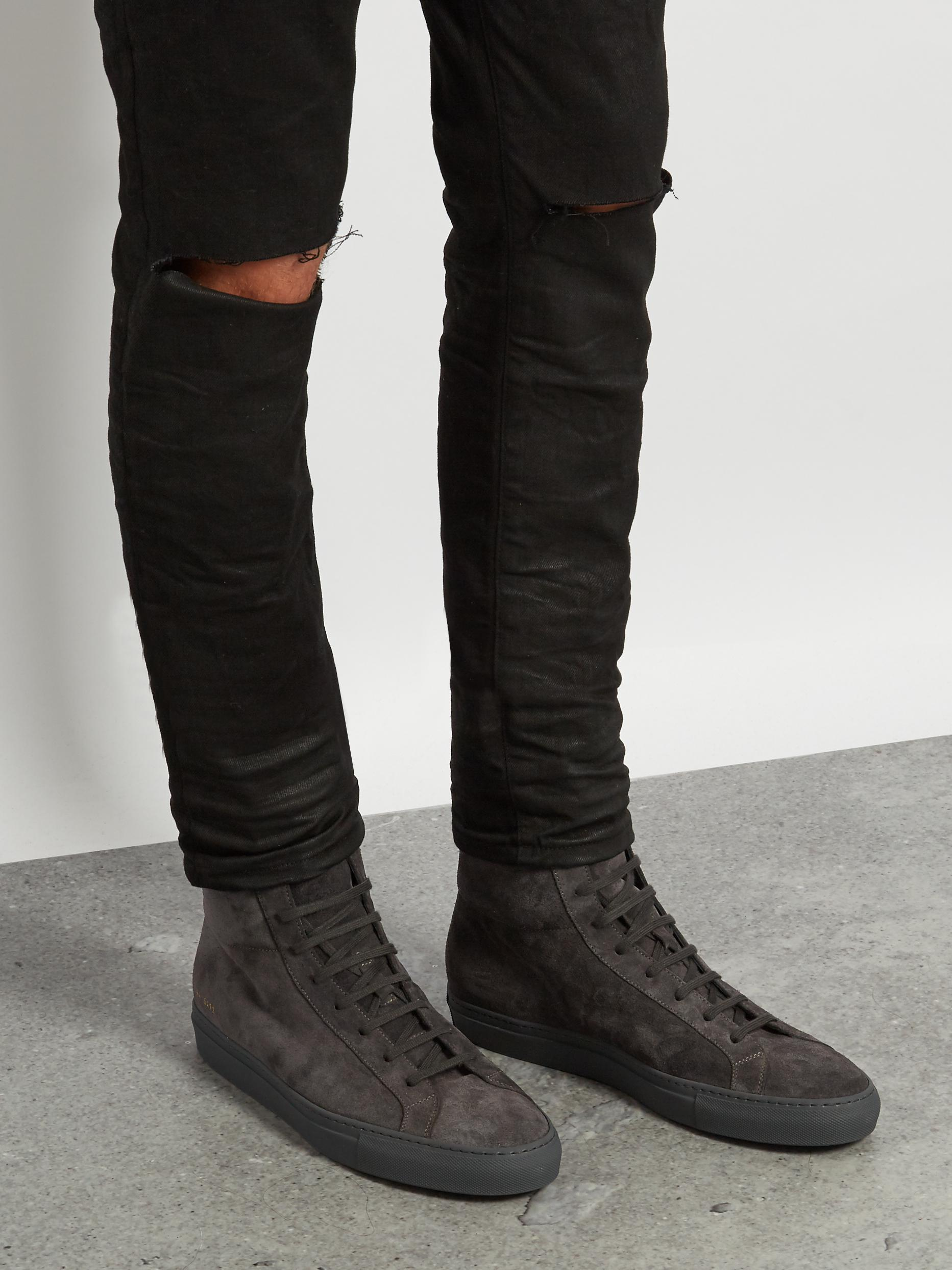 common projects black high top