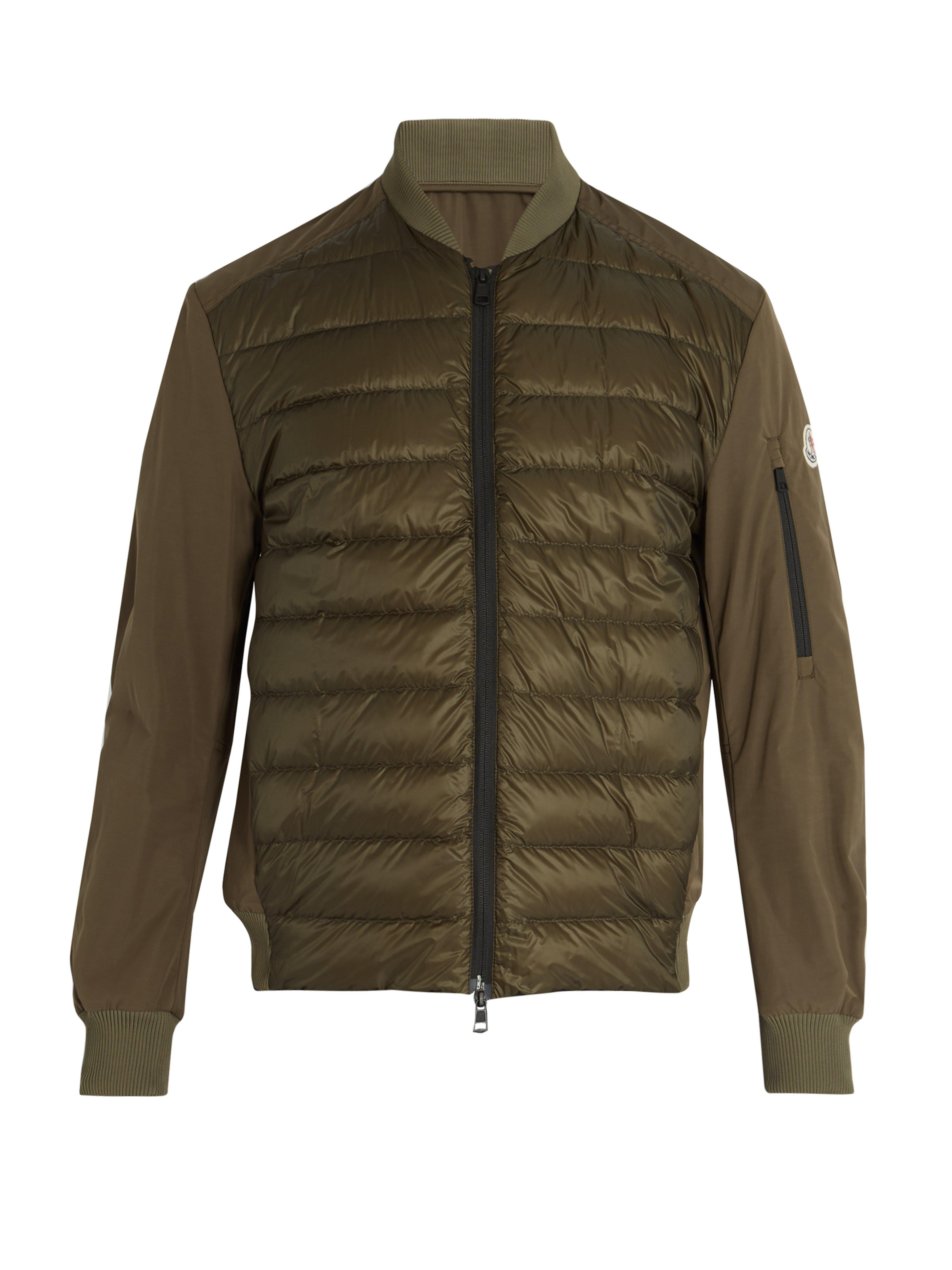 843146dd1 Moncler Ariege Contrast Panel Quilted Down Jacket in Green for Men ...