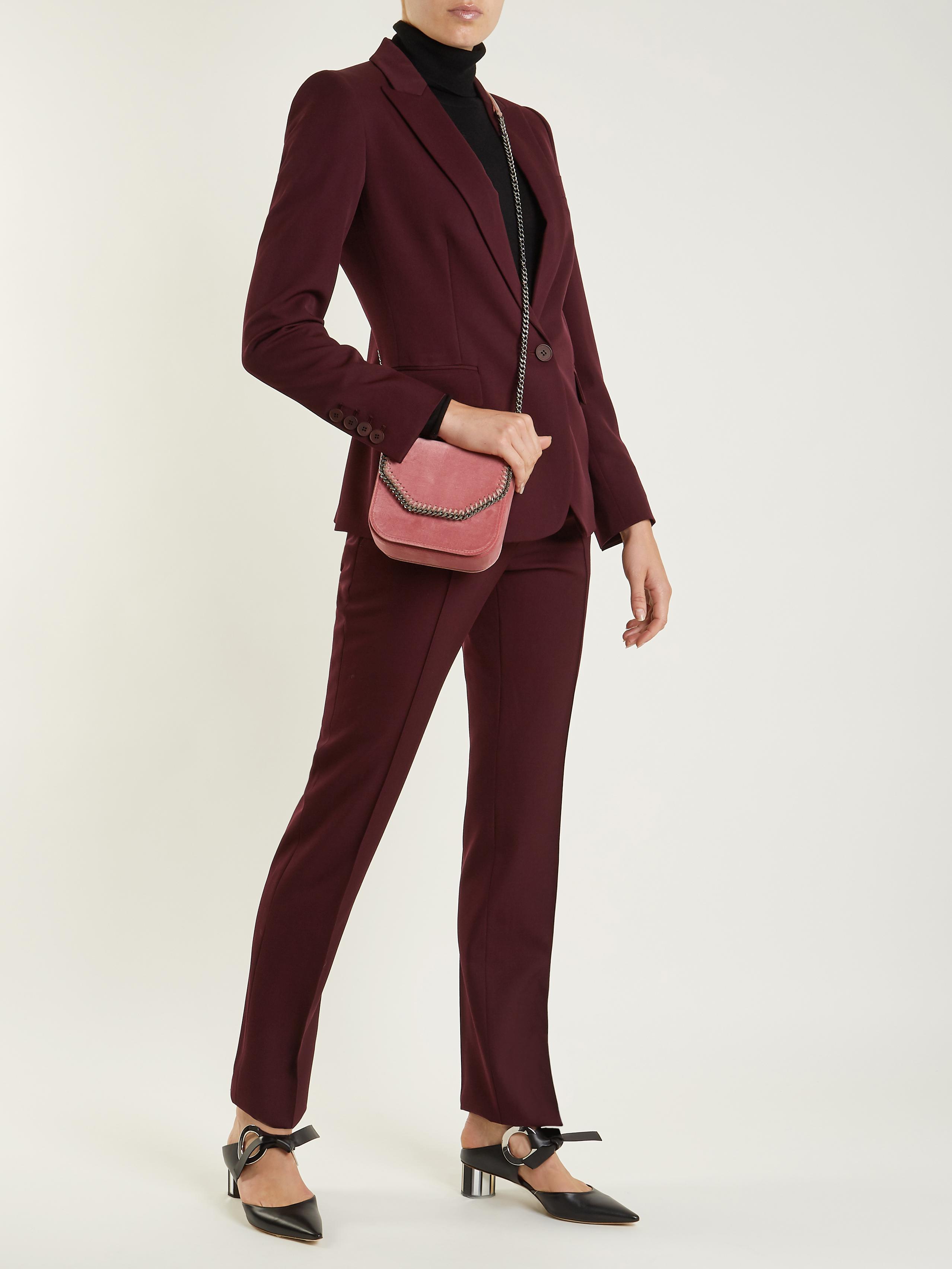 05b9f6e54078 Stella McCartney Falabella Box Mini Velvet Cross-body Bag in Pink - Lyst