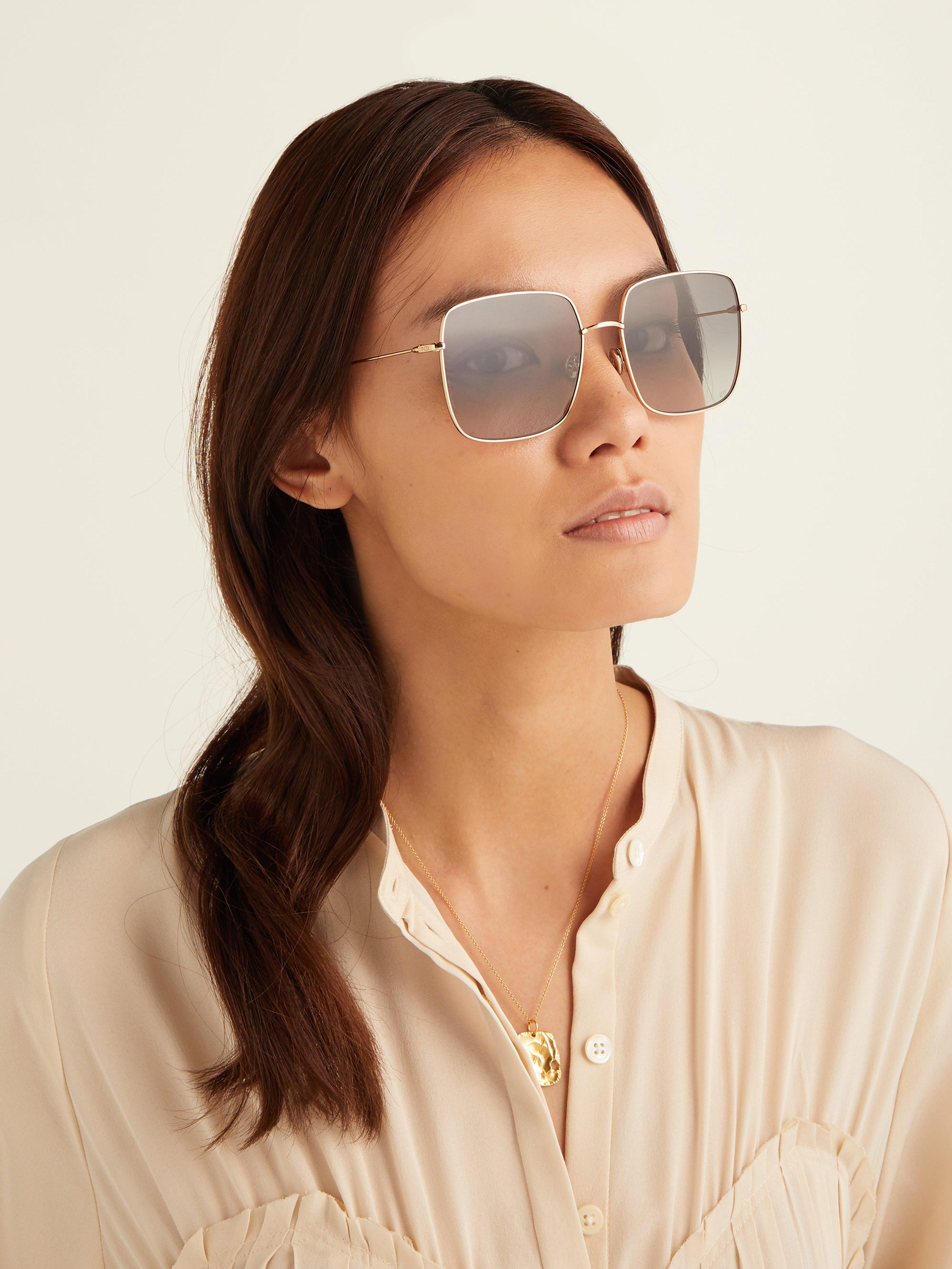 fbc0504fb0fe ... Diorstellaire1 Square Frame Sunglasses - Lyst. View fullscreen