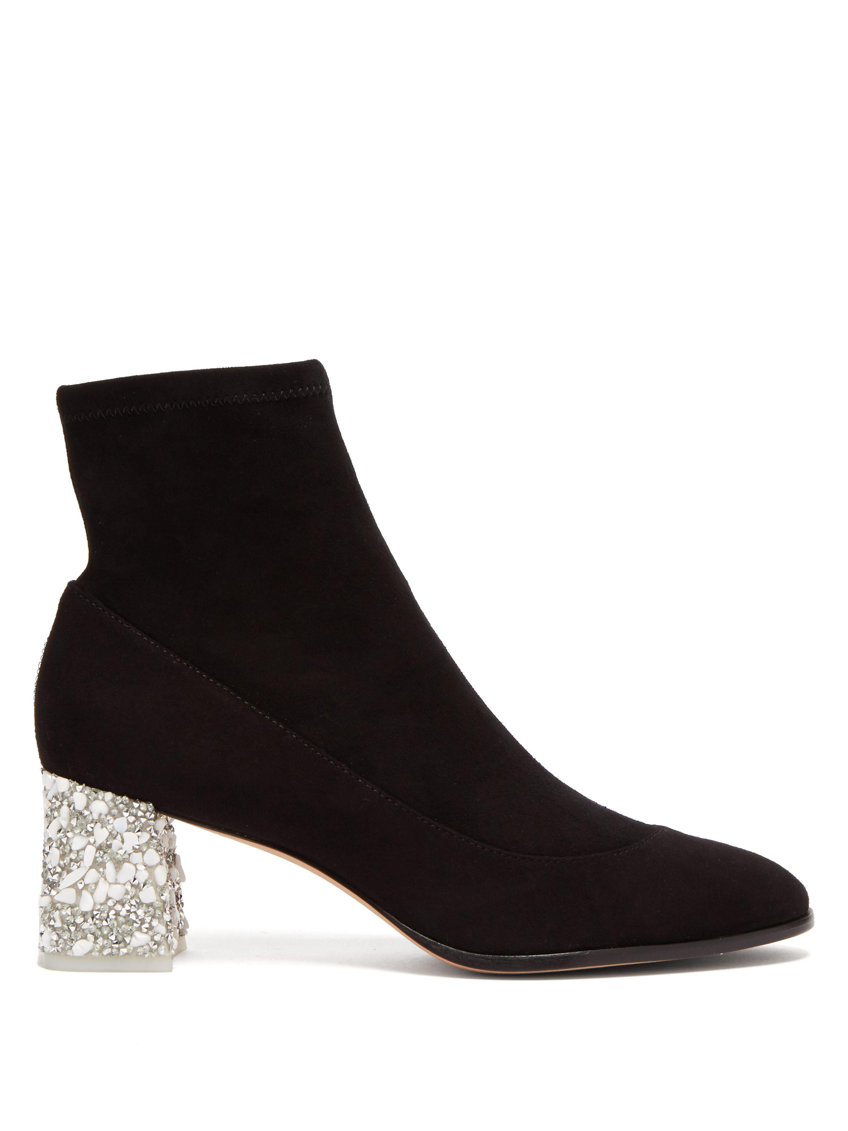 Sophia Webster Suede Ankle Boots in Black