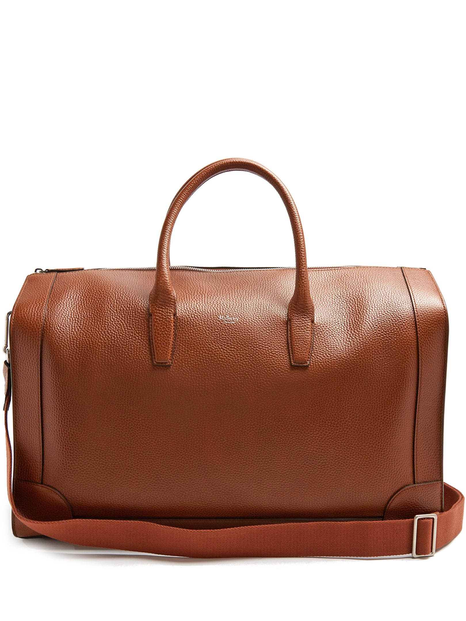 71862692087 Lyst - Mulberry Belgrave Grained-leather Holdall in Brown for Men