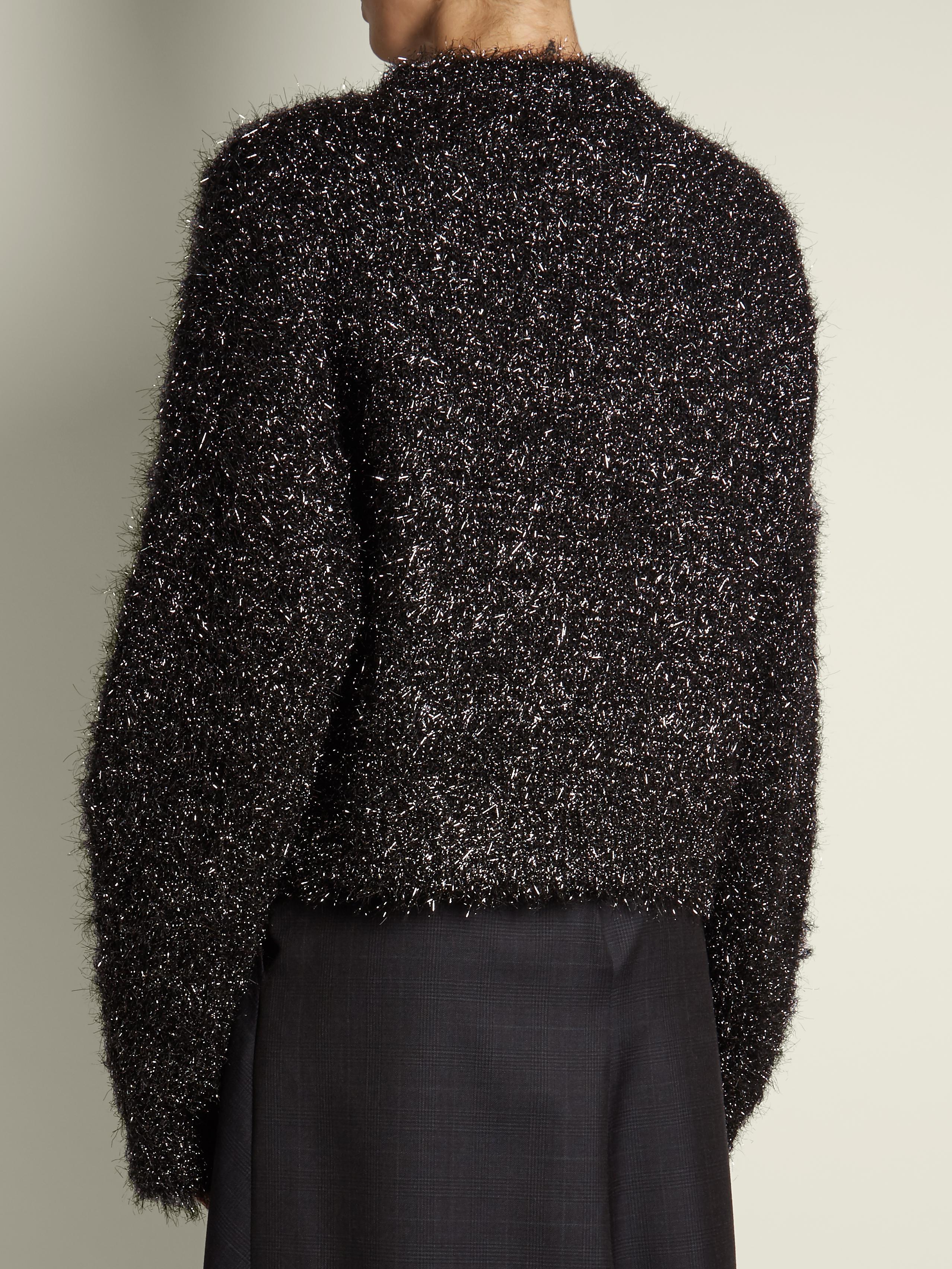 Isabel Marant Ben Lurex Sweater in Grey Silver (Grey)