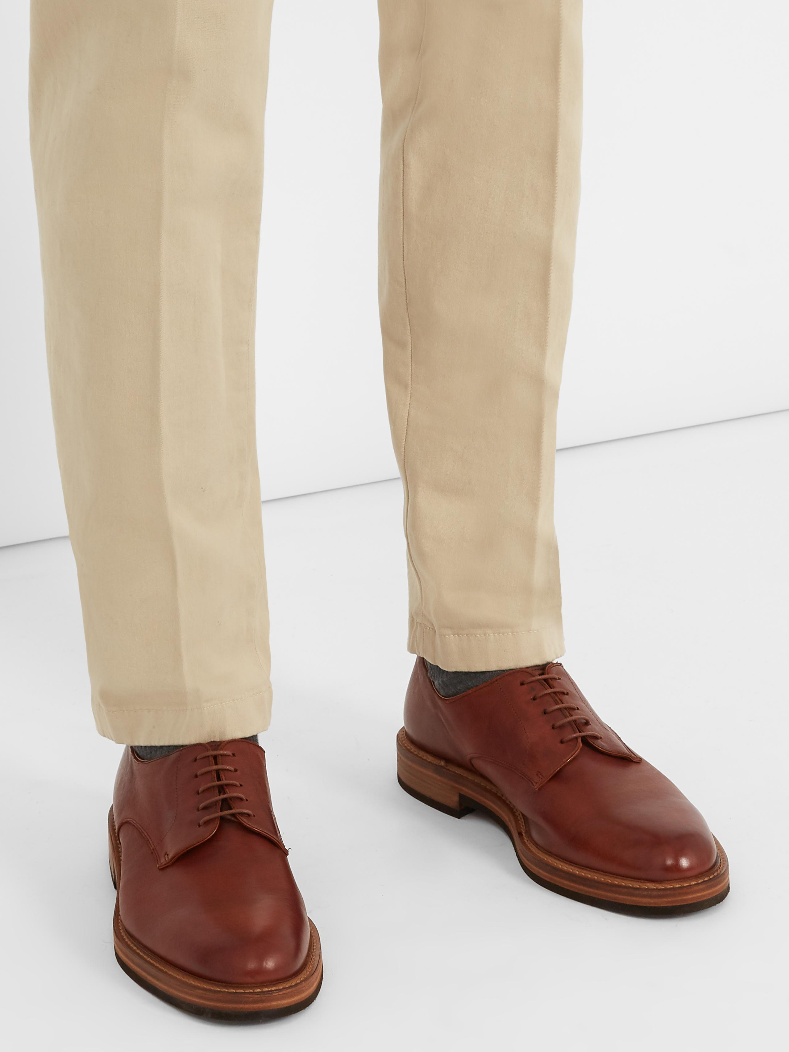Fratelli Rossetti Batik Leather Derby Shoes in Tan (Brown) for Men