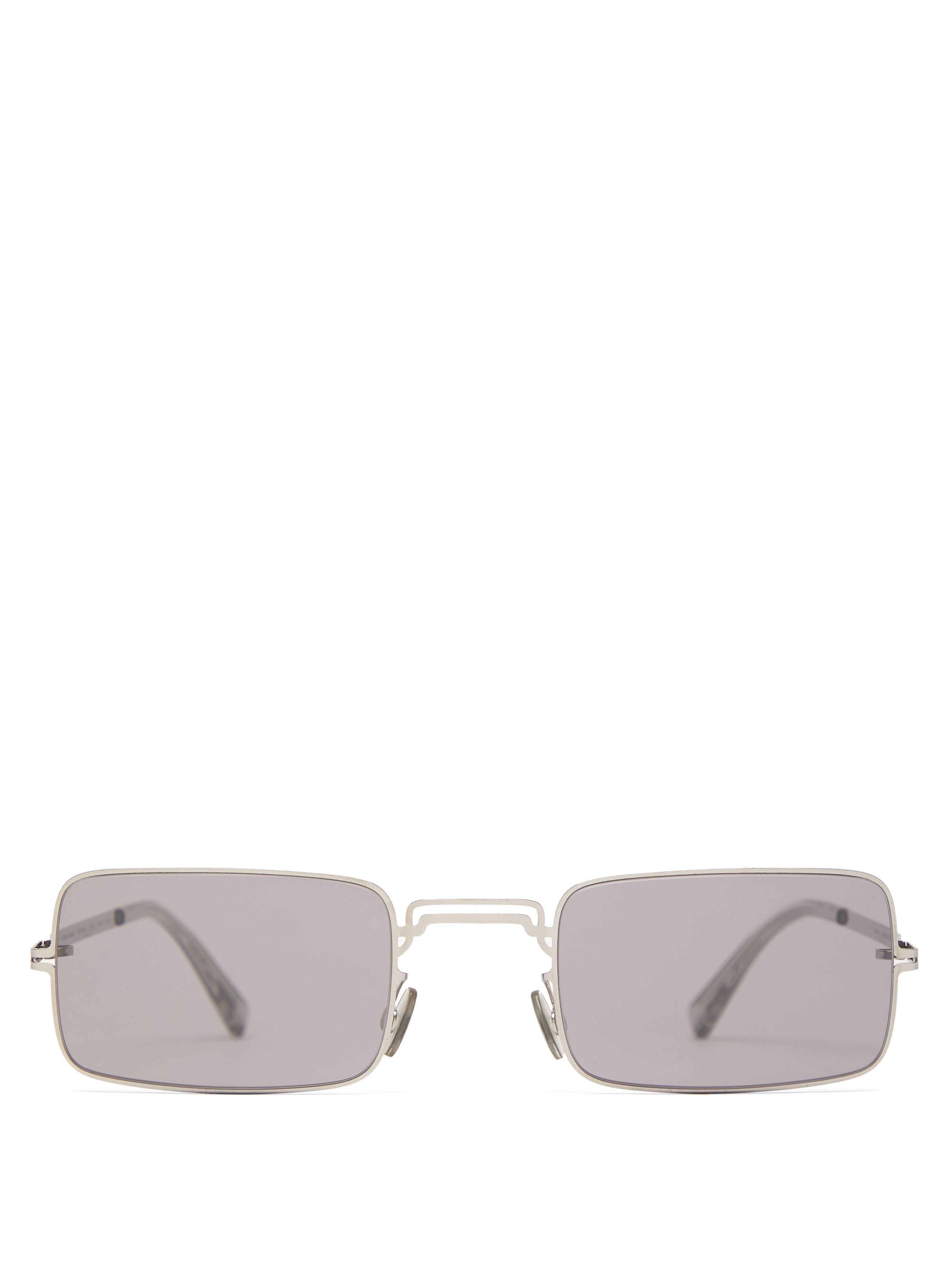 e47b6fb9fb4 Mykita X Maison Margiela Craft Metal Sunglasses in Metallic for Men ...
