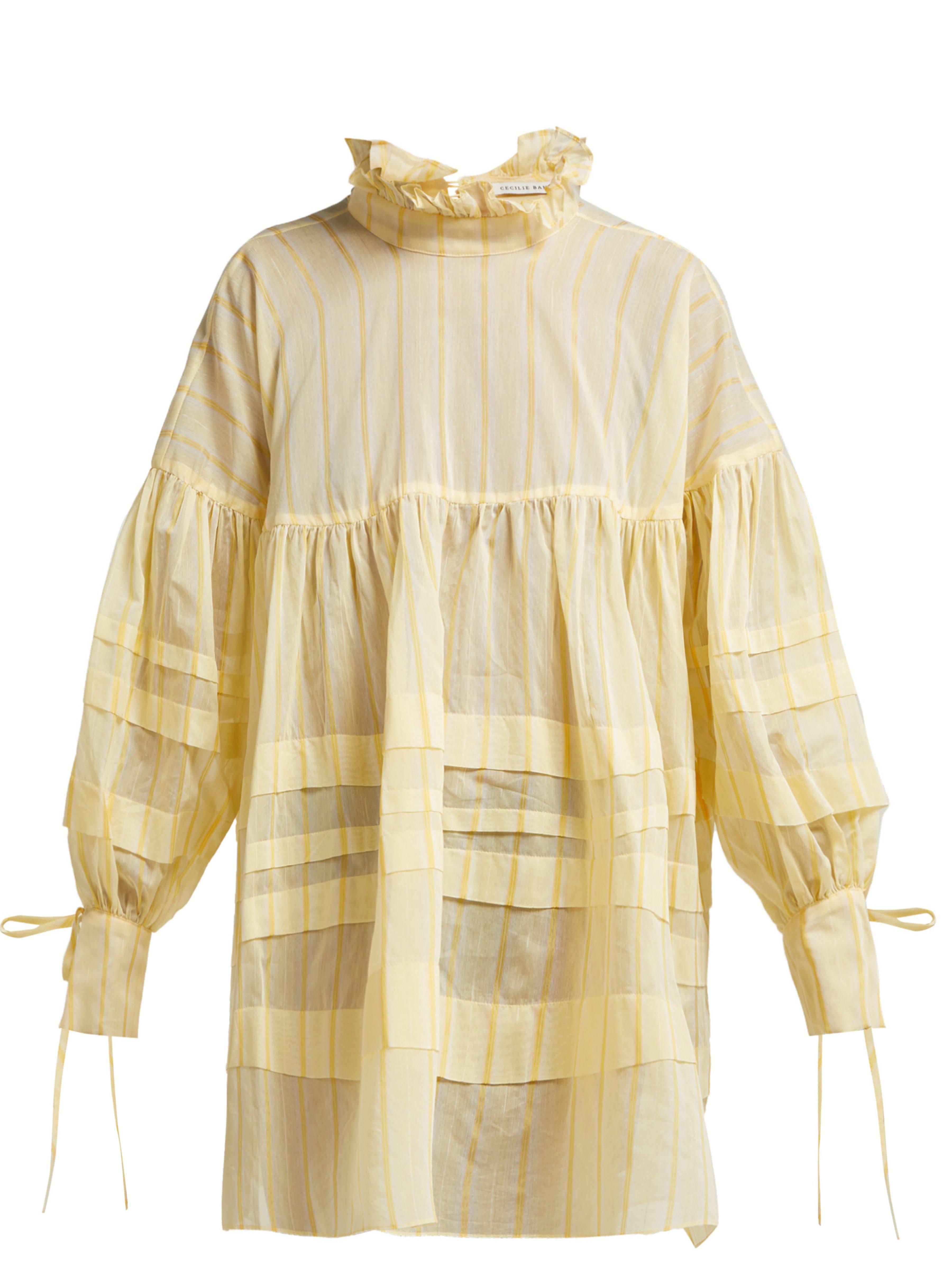 Cotton Cecile Yellow Lyst Dress Blend Bahnsen Alberte In 1JlKTFc