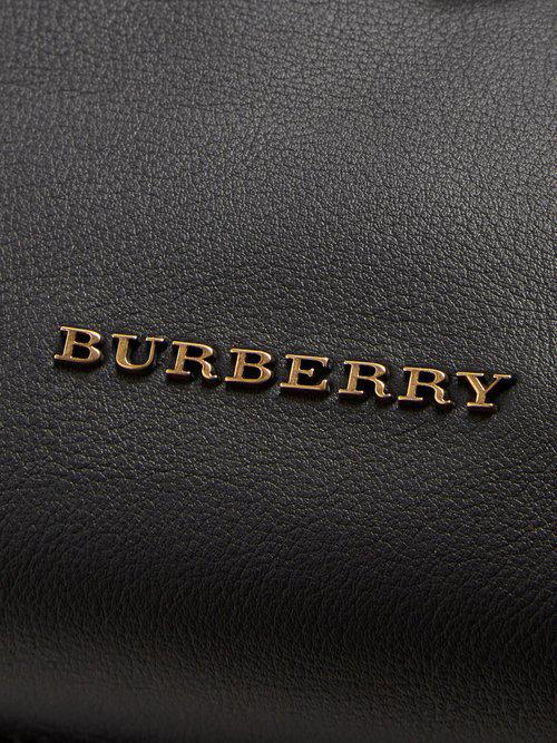 Burberry Contrast-stitch Leather Backpack in Black for Men