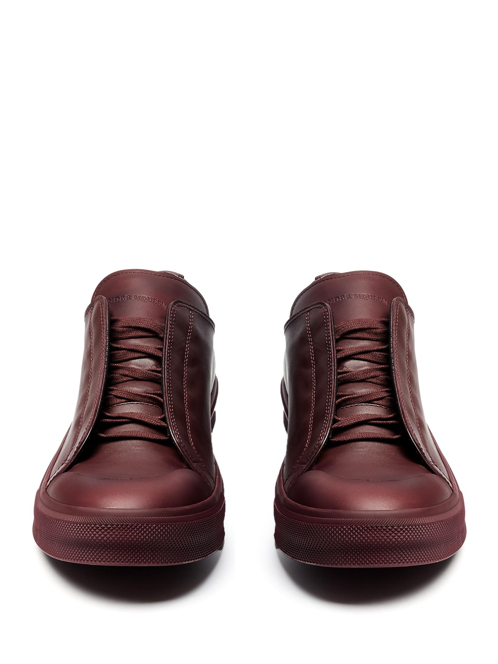 Alexander McQueen Low-top Leather Trainers for Men