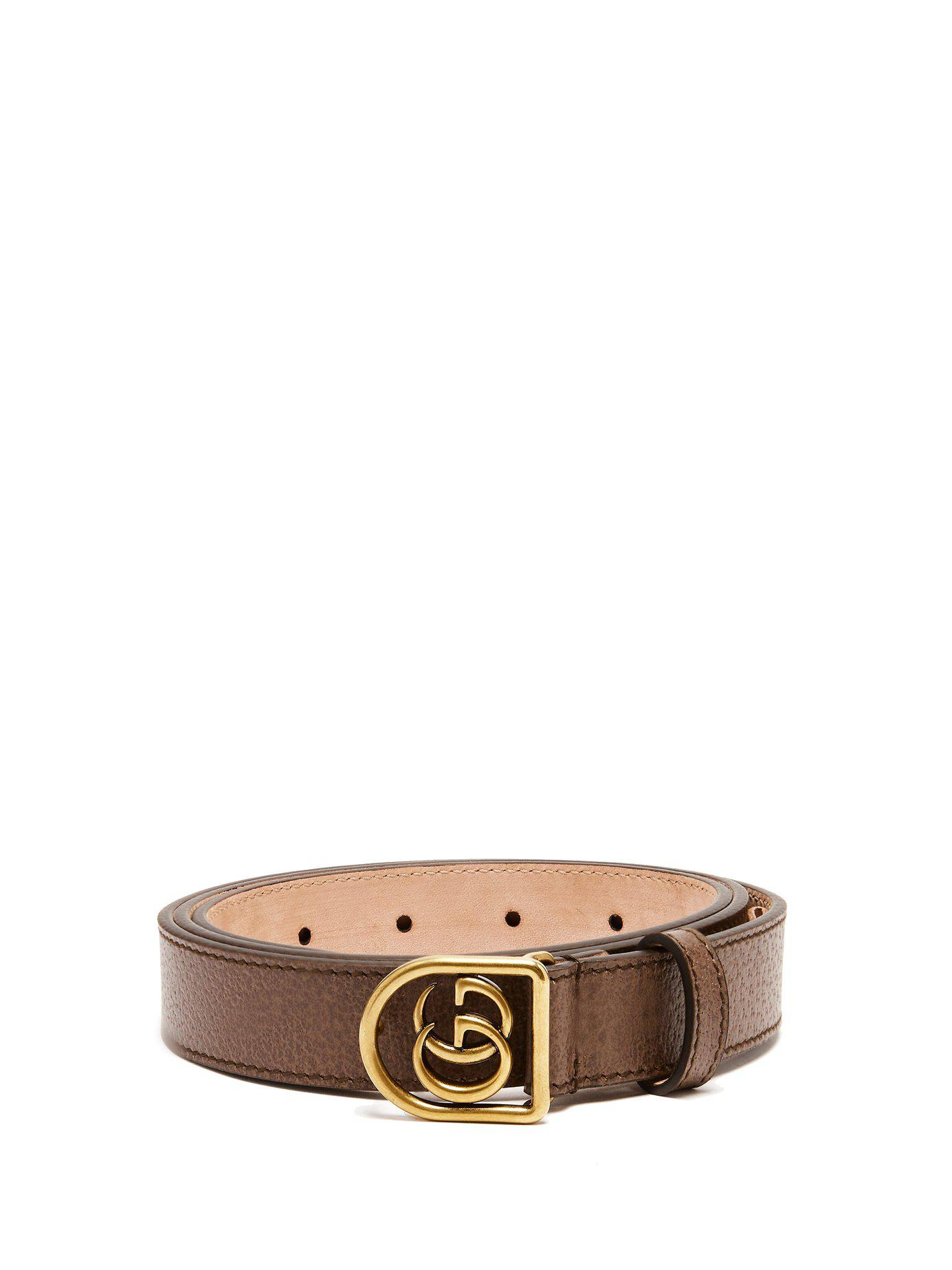 2c9a747f324 Gucci Leather Belt With Double G Buckle in Brown for Men - Save 53 ...